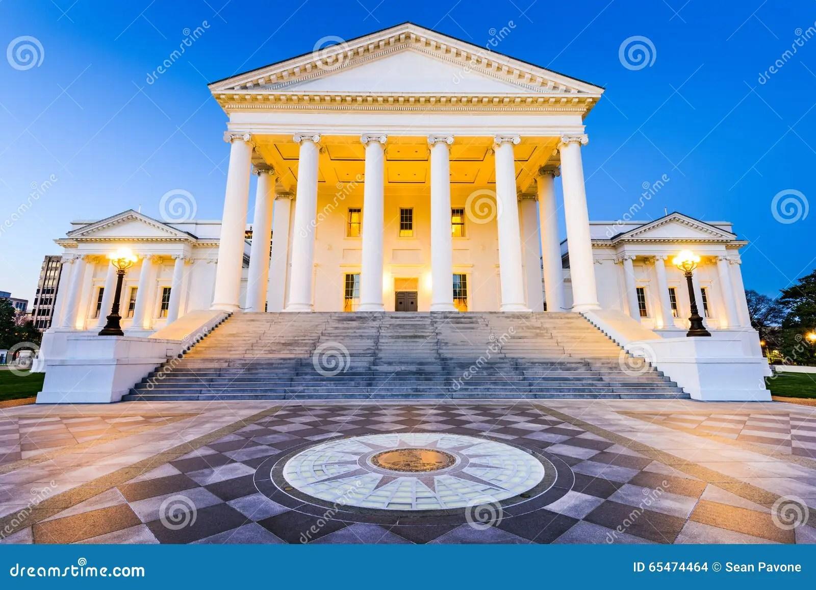 Richmond Virginia State Capitol Arkivfoto