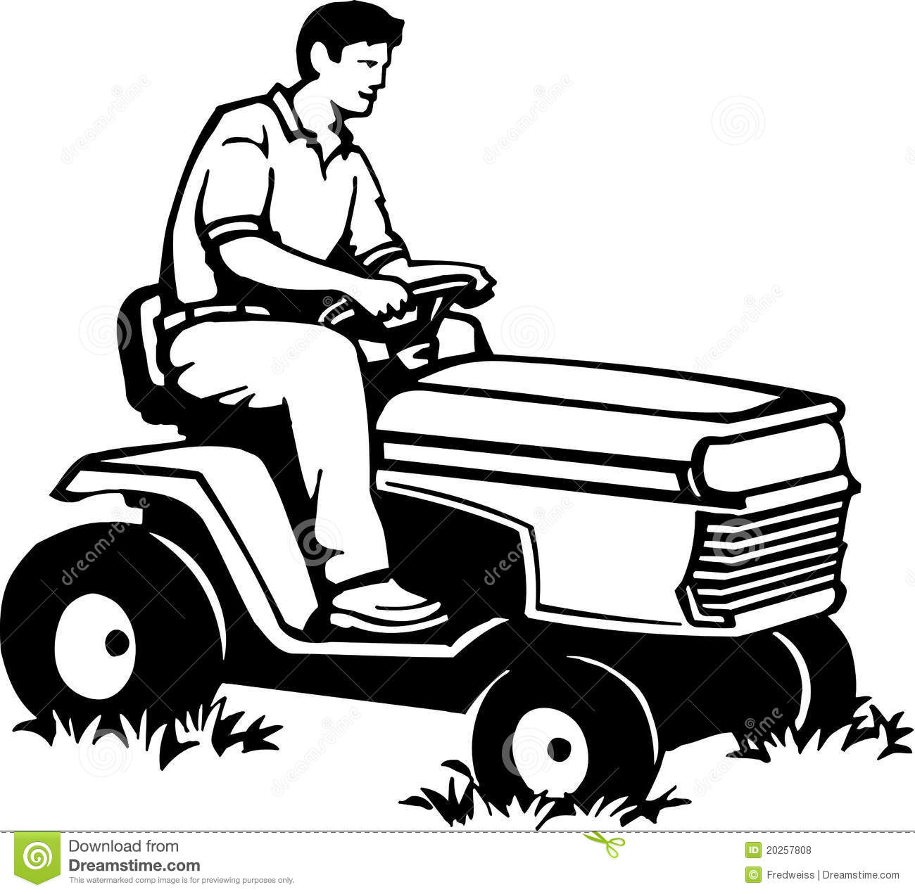 Riding Lawn Mower Royalty Free Stock Photos