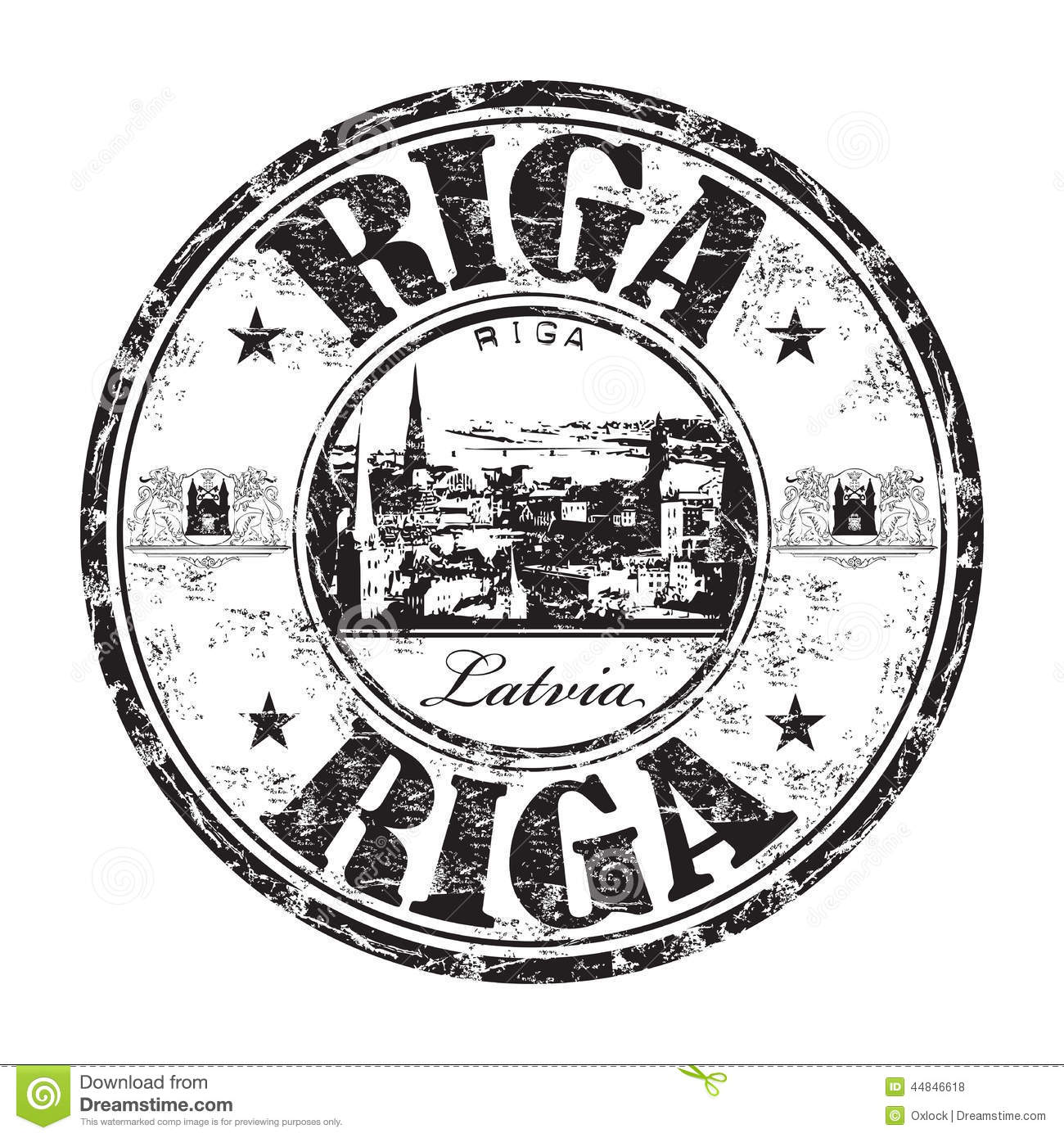 Riga City Grunge Rubber Stamp Stock Vector