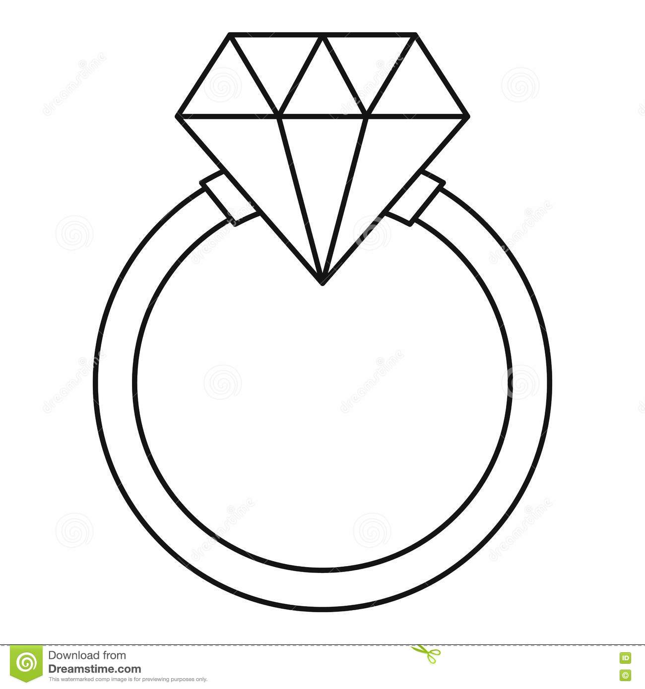 Ring Lgbt Icon Outline Style Stock Vector