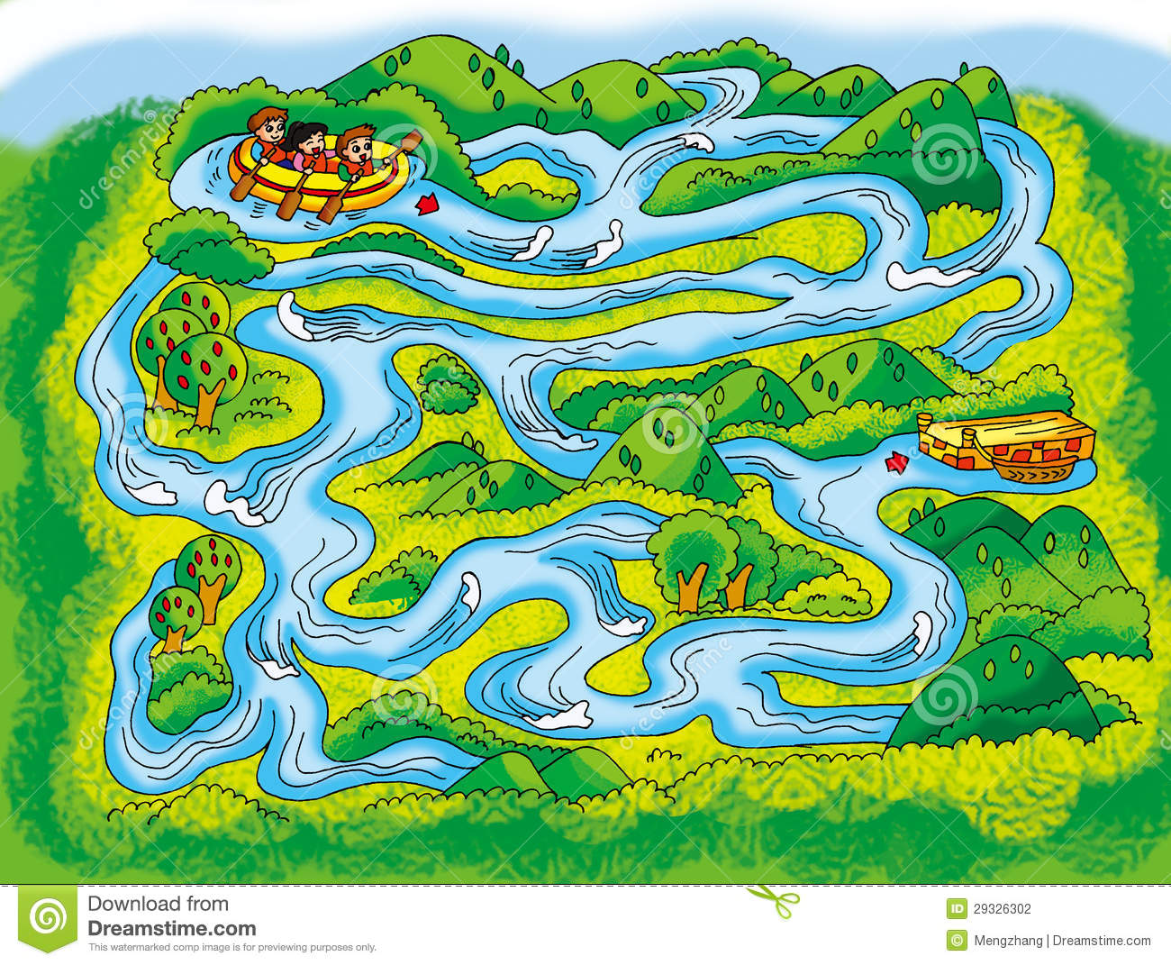 River Maze Stock Illustration Illustration Of Development