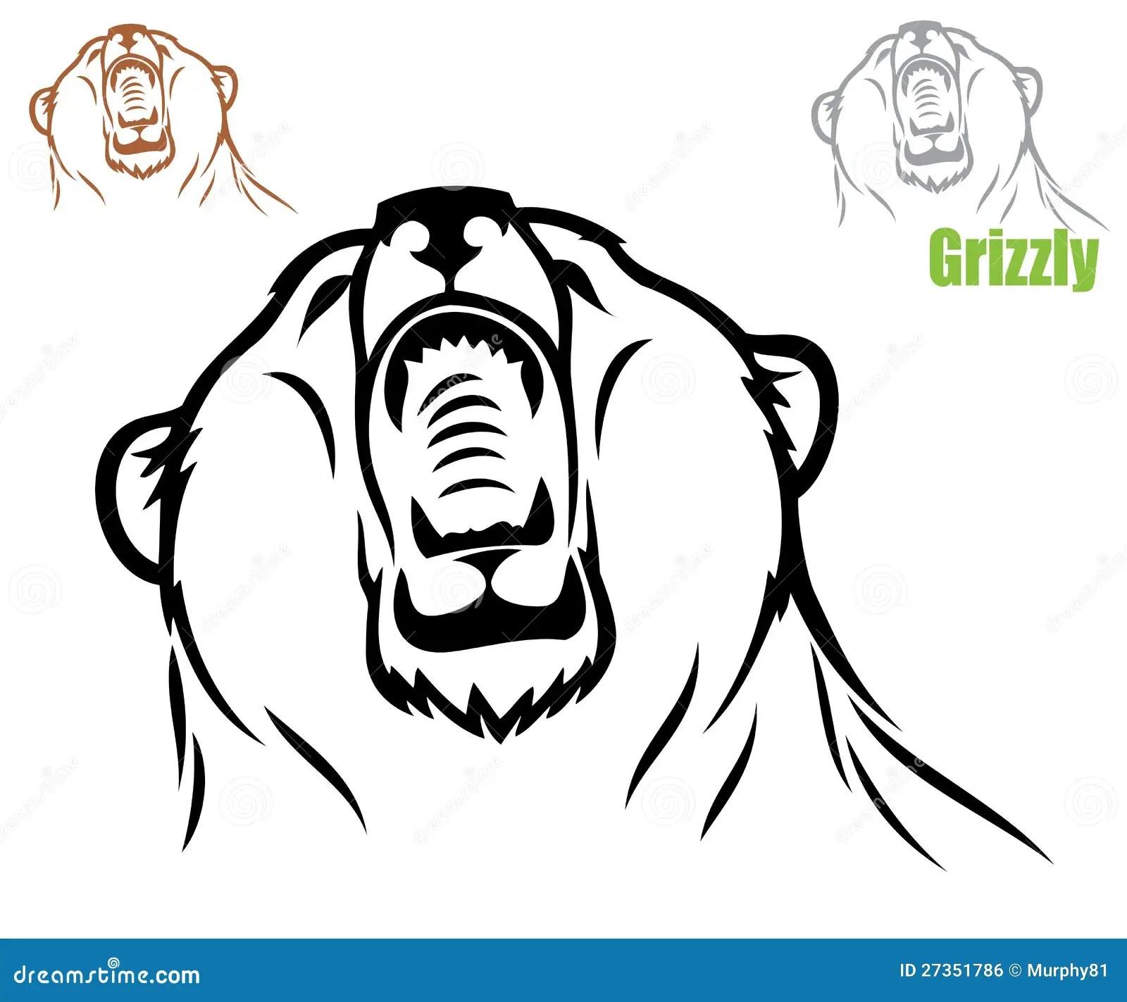 Roaring Bear Stock Vector Illustration Of Animal