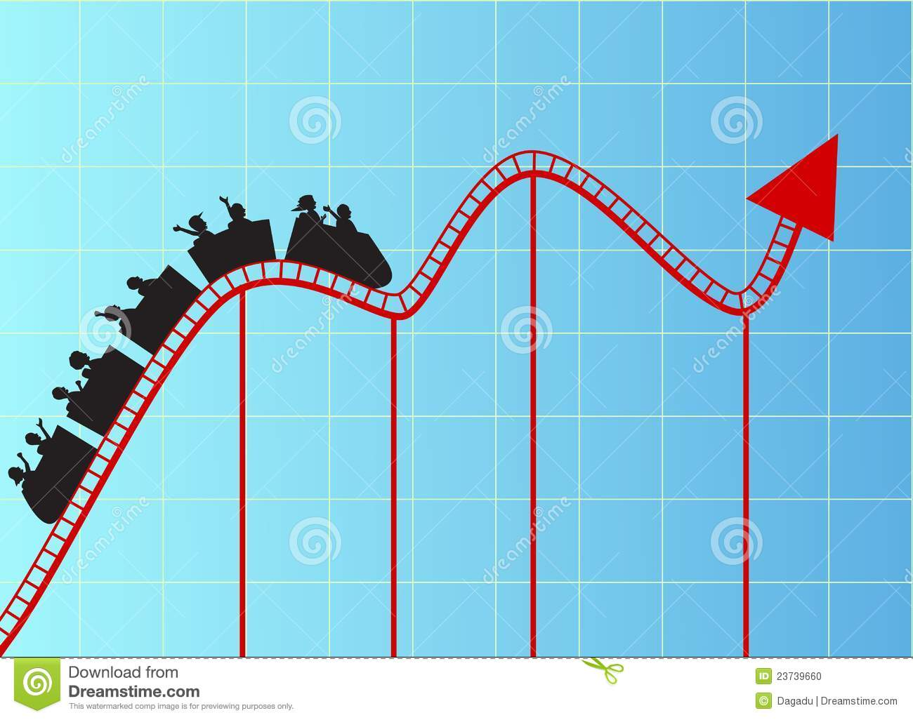 Stock Photo Roller Coaster Graph Image
