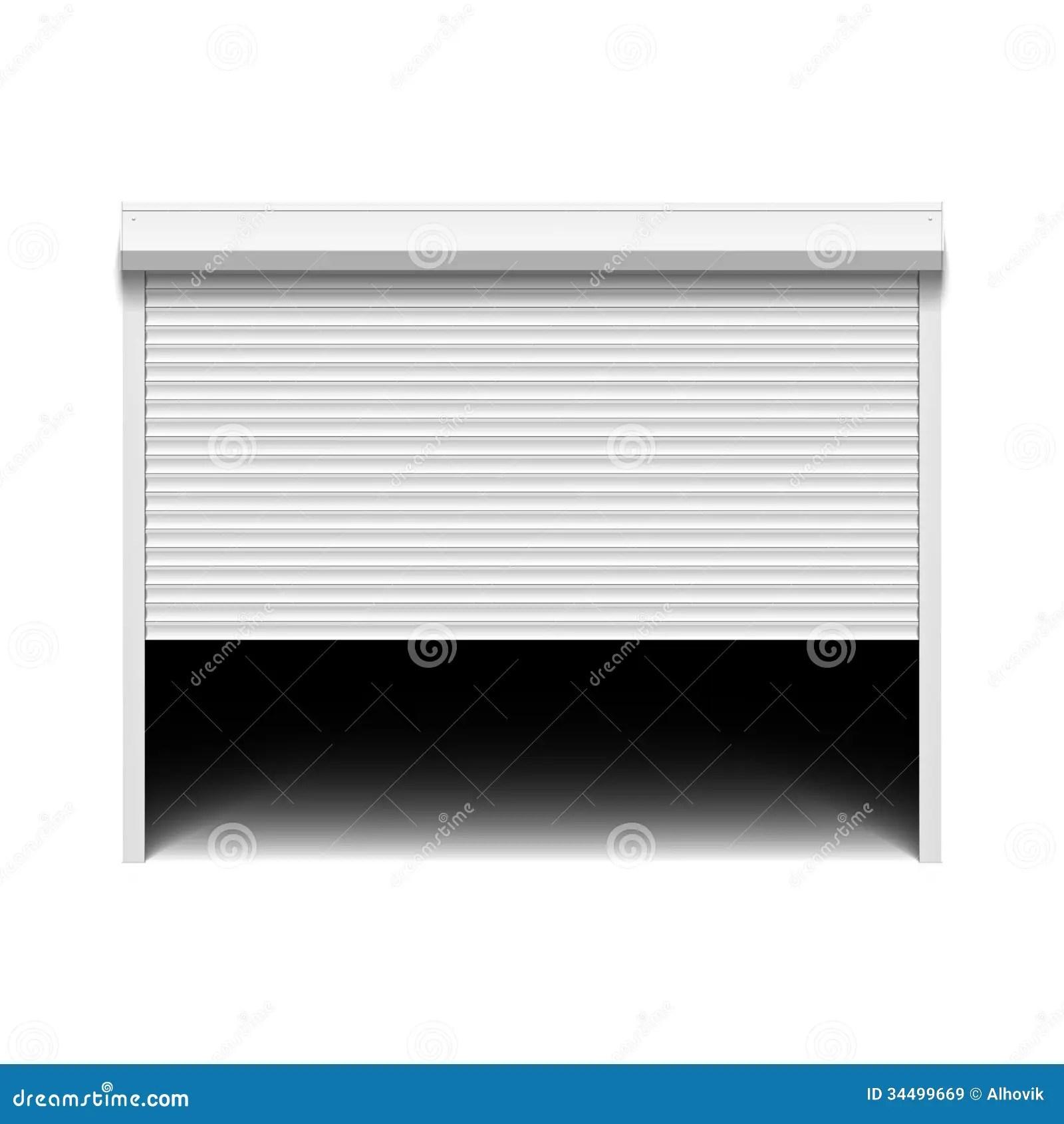 Roller Shutter Garage Door Stock Vector Illustration Of