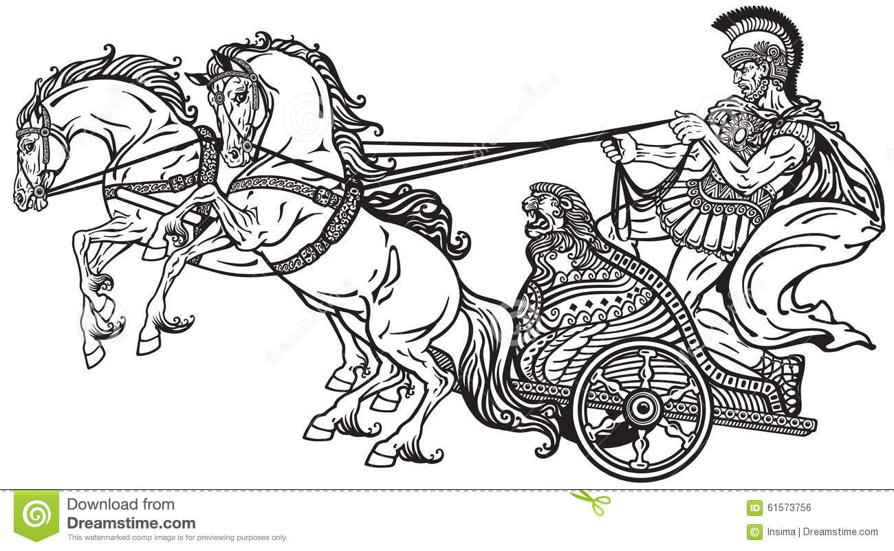 Roman War Chariot Stock Vector Image Of Historic Chariot