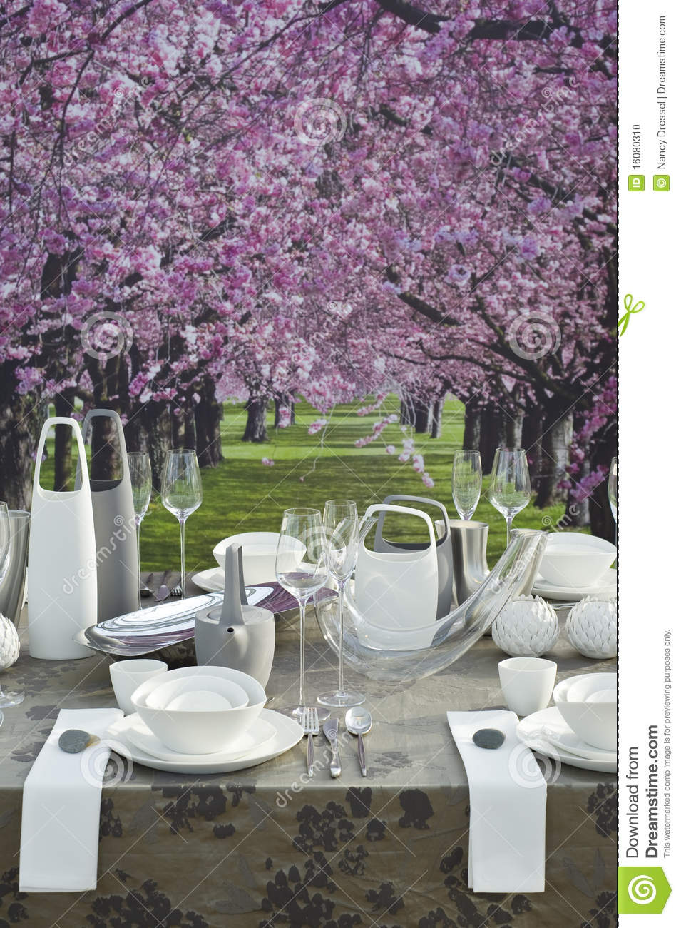 Romantic Coffee Table Setting Stock Photo Image 16080310