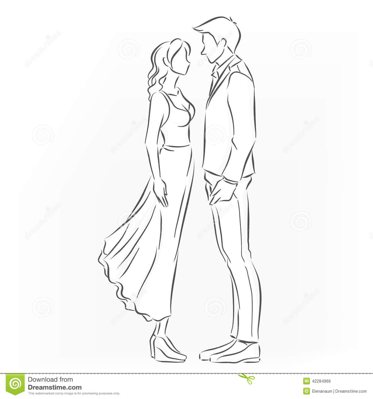Romantic Couple That Want To Kiss Stock Vector