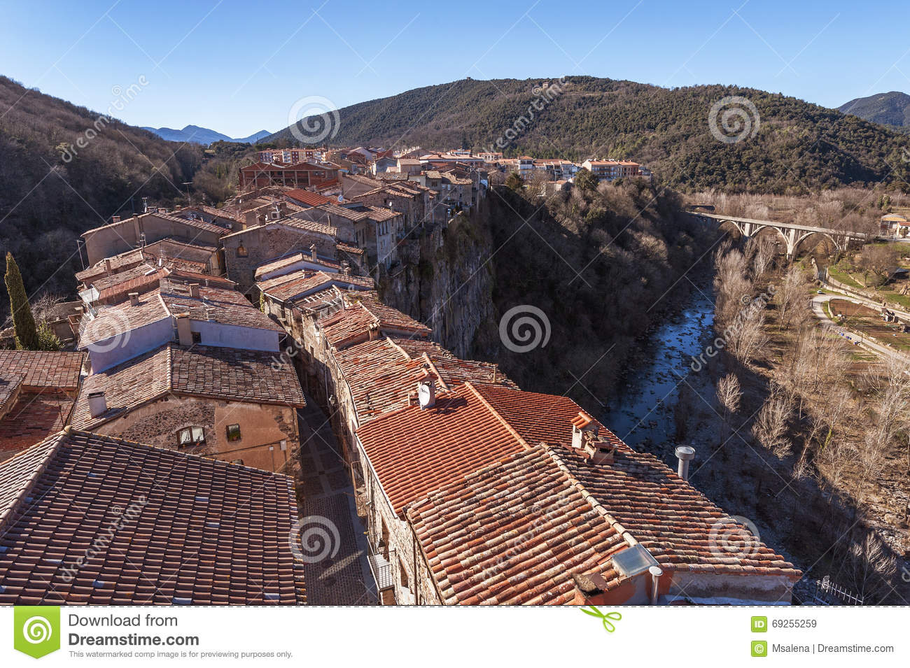 roofs view stock image image of village countryside 69255259