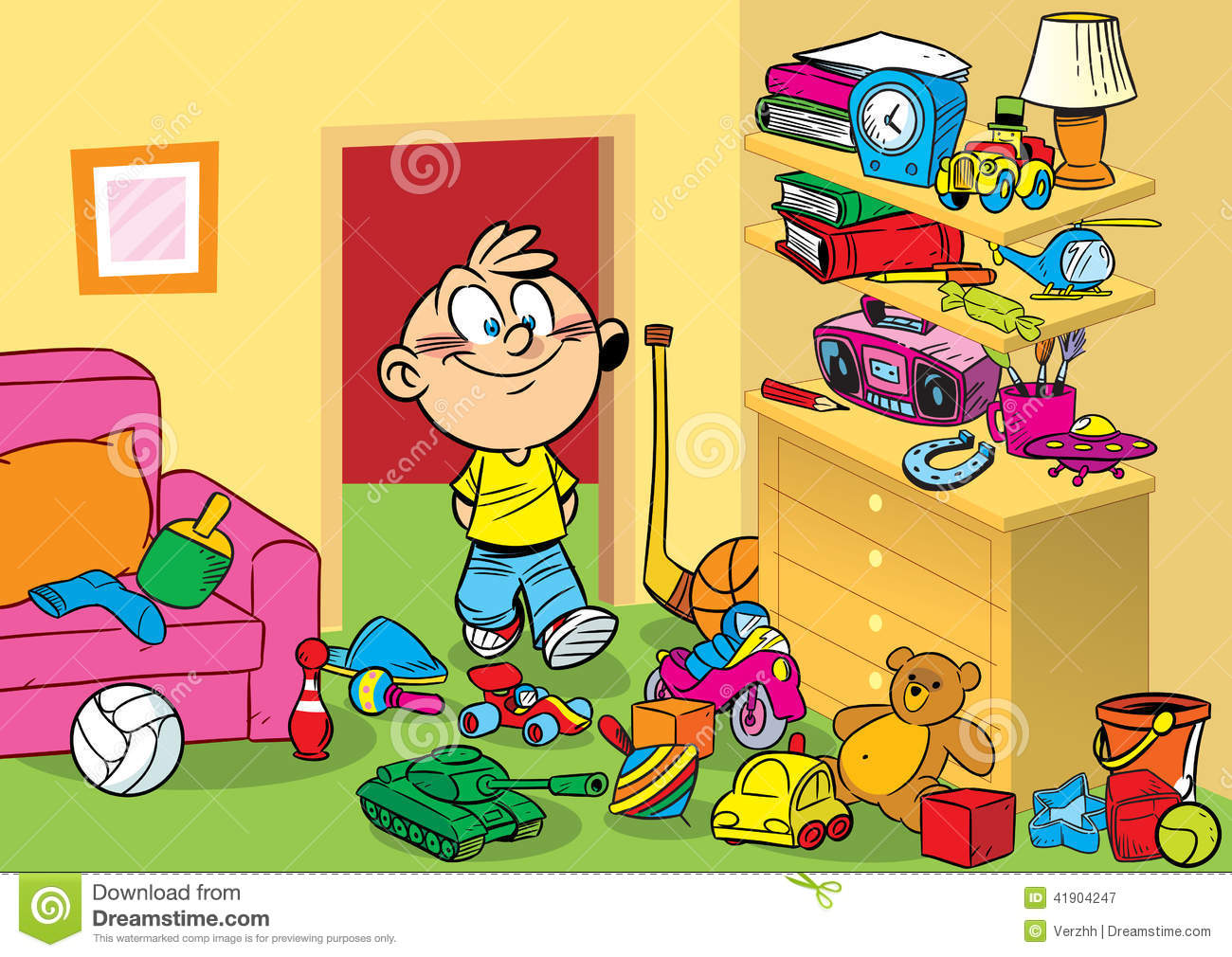 Room With Toys Stock Vector