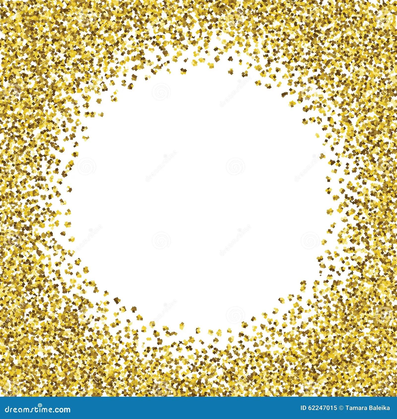 Round Glitter Gold Frame Stock Vector Image 62247015