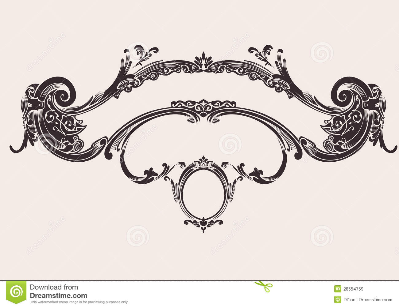 Royal Vintage Curves Banner Royalty Free Stock Images