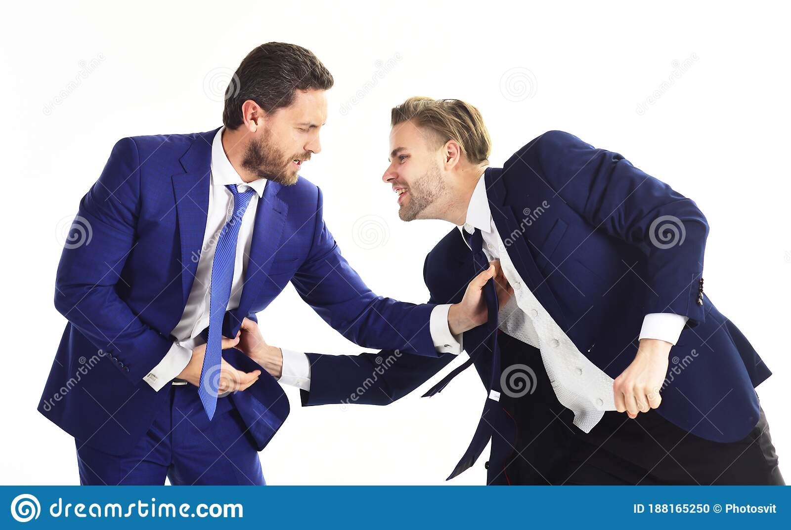 Rude Brutal Angry Business People Businessman And