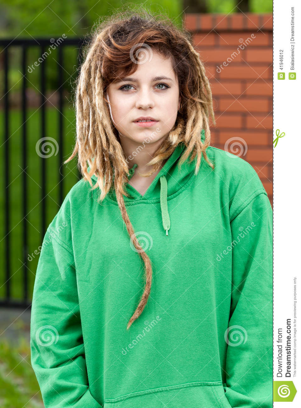 Rude Rasta Girl Stock Photo Image Of Dreads Hairstyle