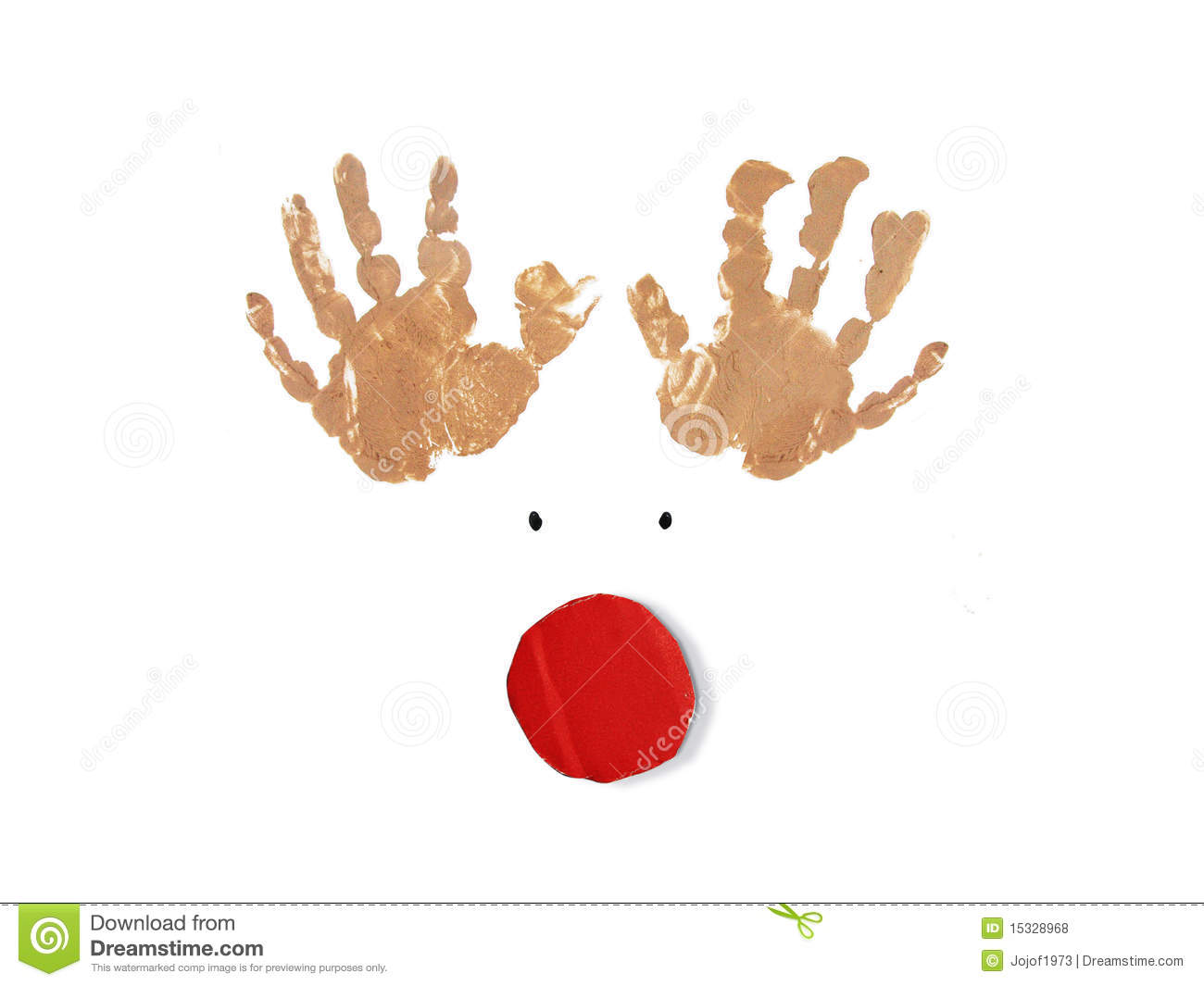 Rudolph The Red Nose Reindeer Christmas Card Royalty Free