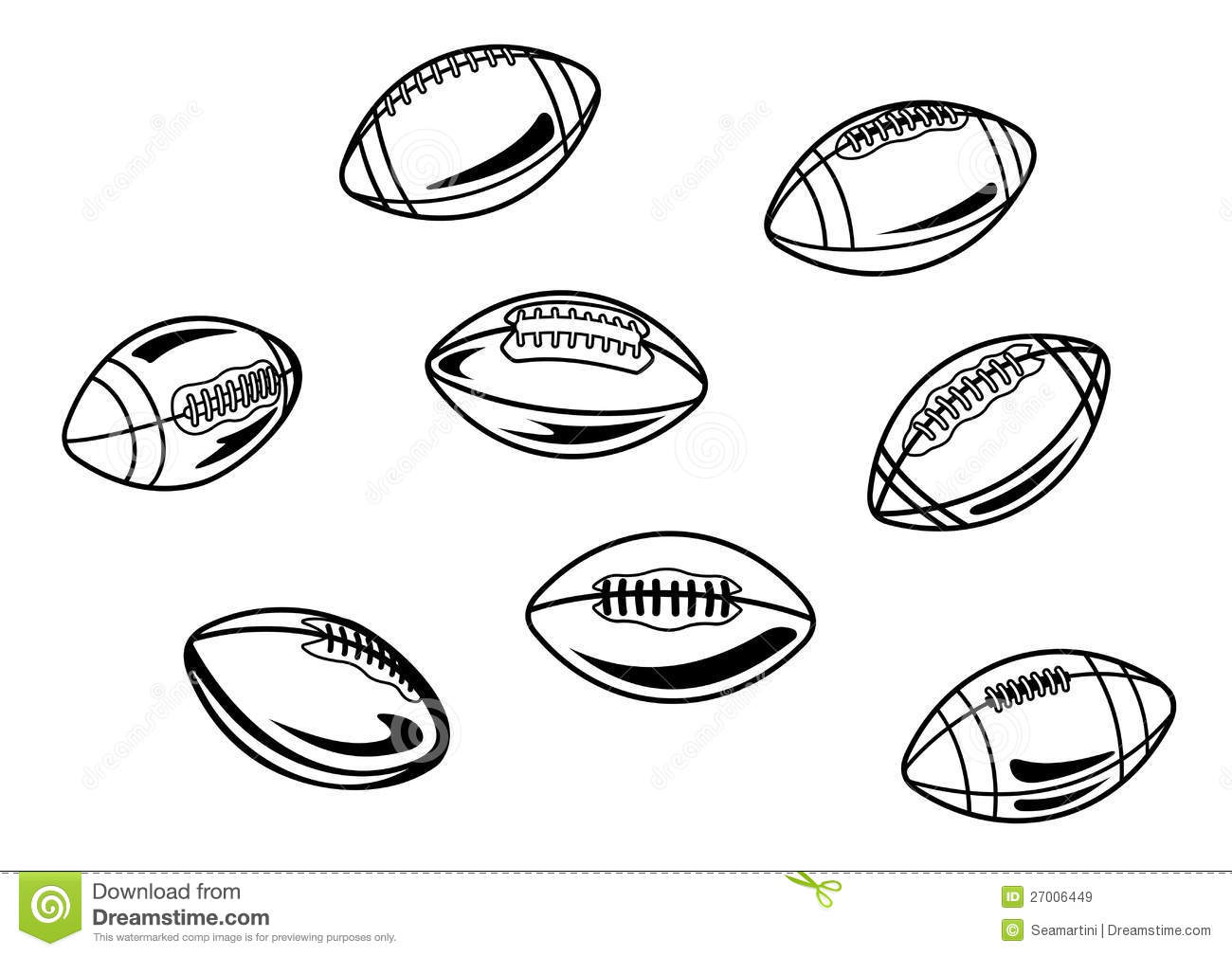 Rugby And American Football Balls Royalty Free Stock