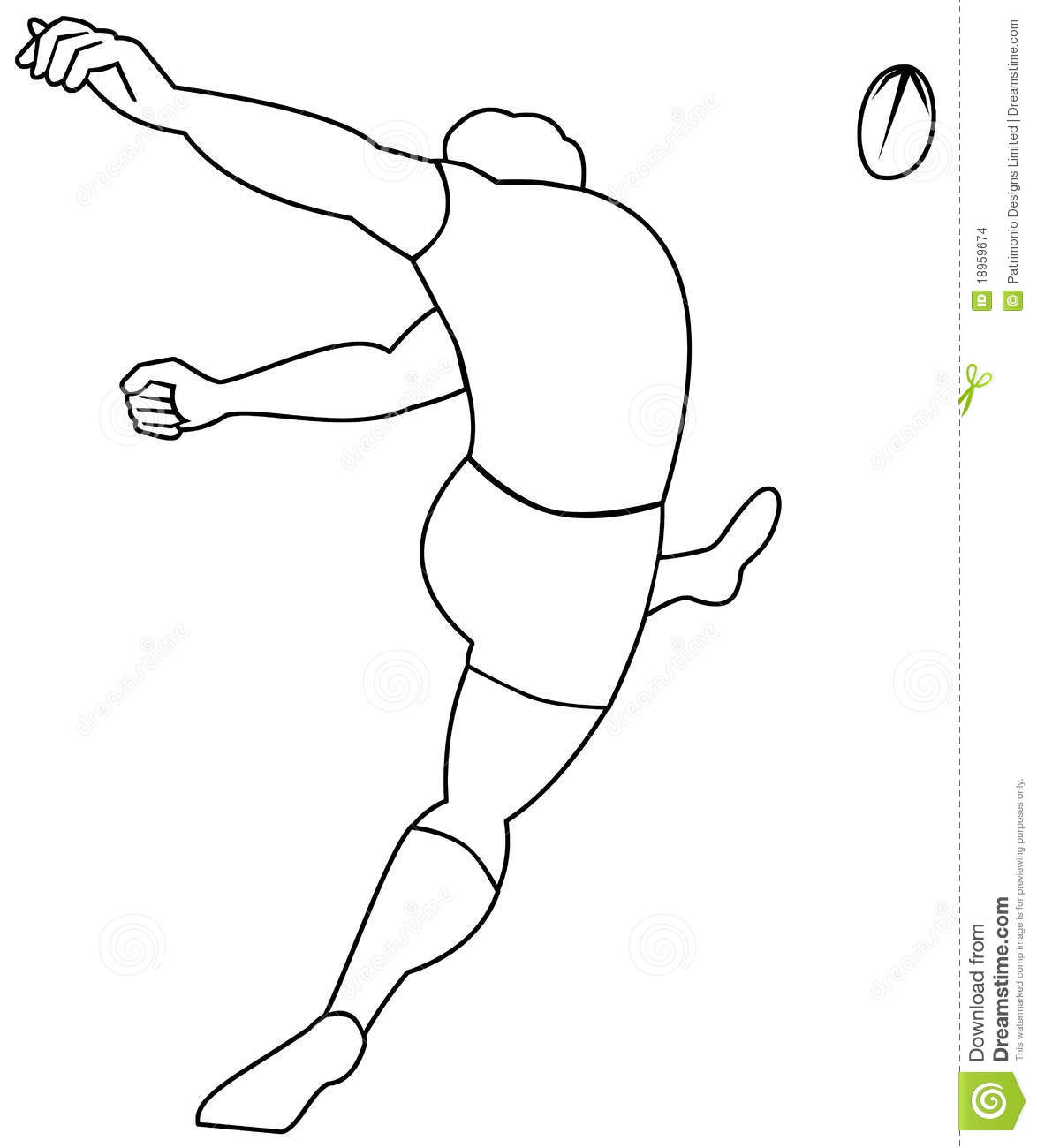 Rugby Player Kicking Ball Stock Images