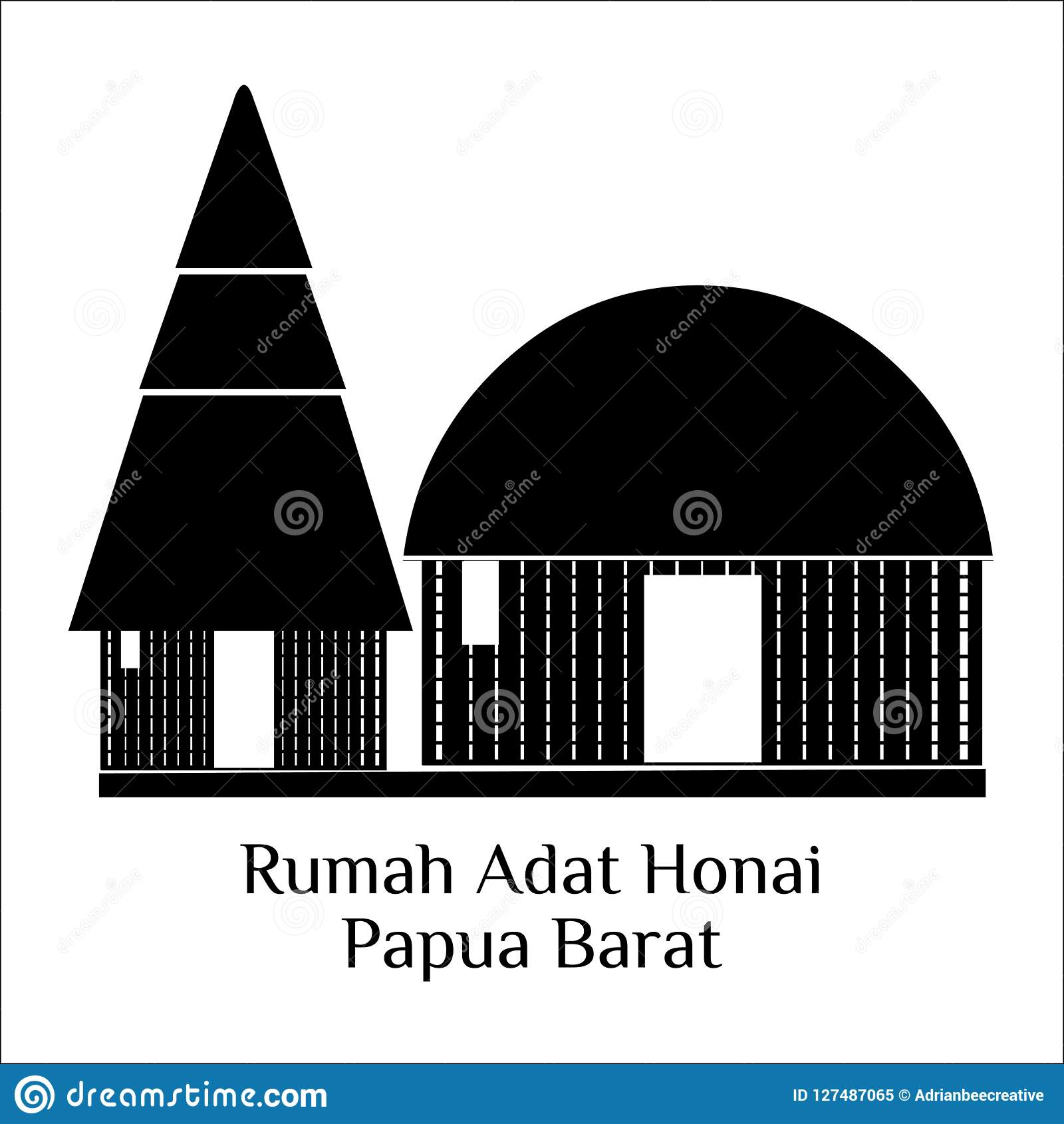 Mewarnai Rumah Adat Honai GAMBAR MEWARNAI HD