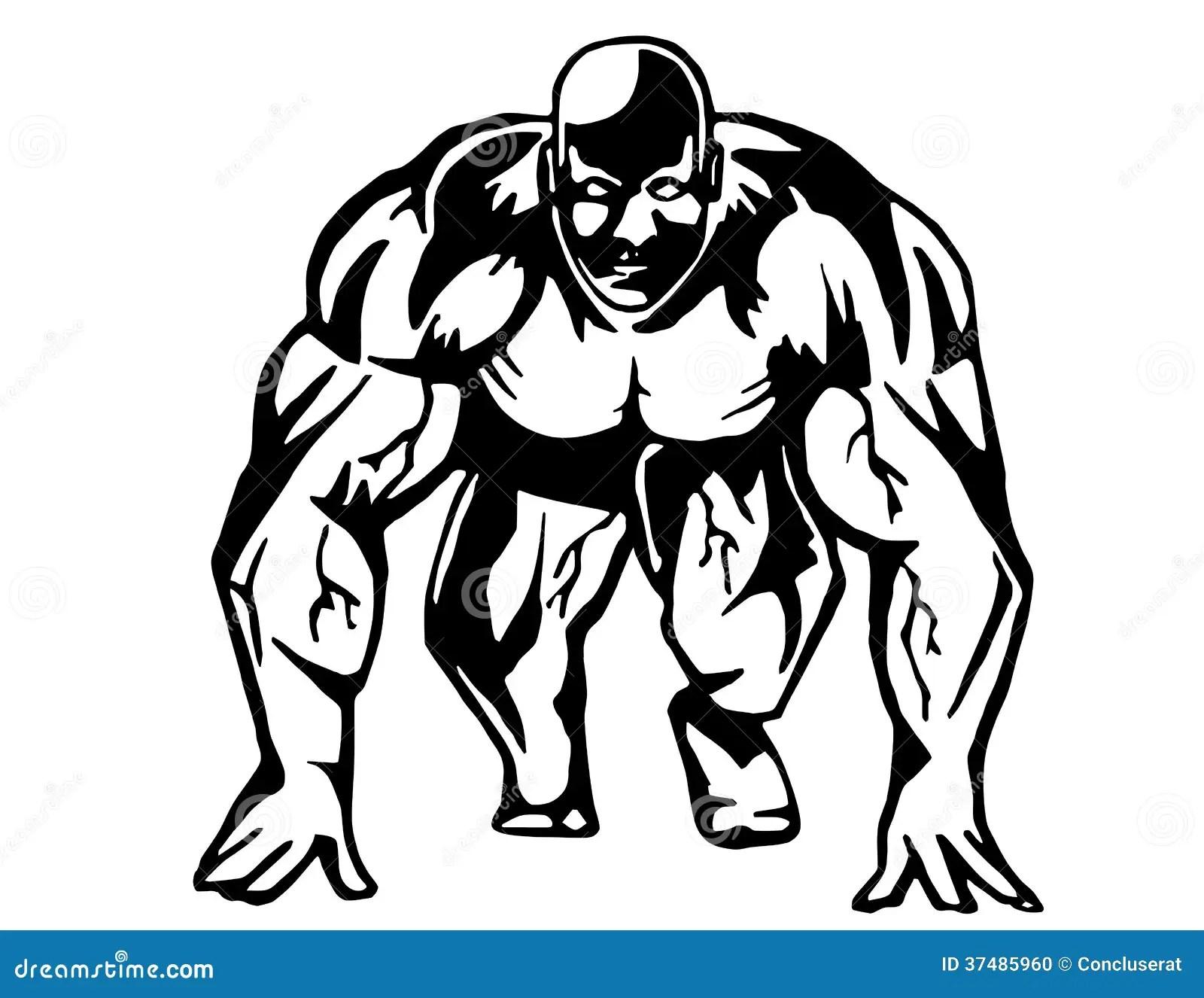 Running Bodybuilder Stock Vector Illustration Of Muscular