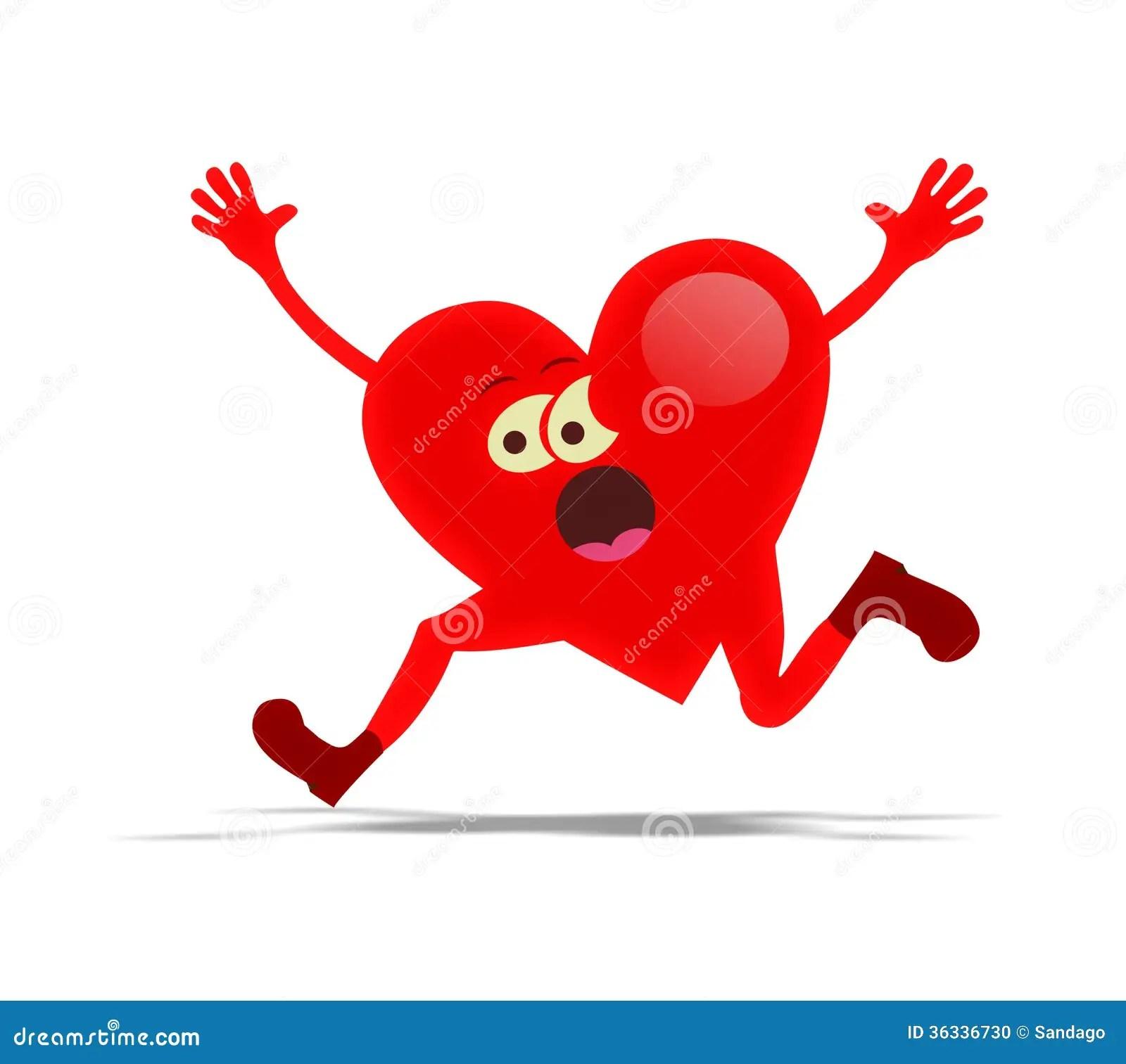 Running Heart Stock Photo Image 36336730