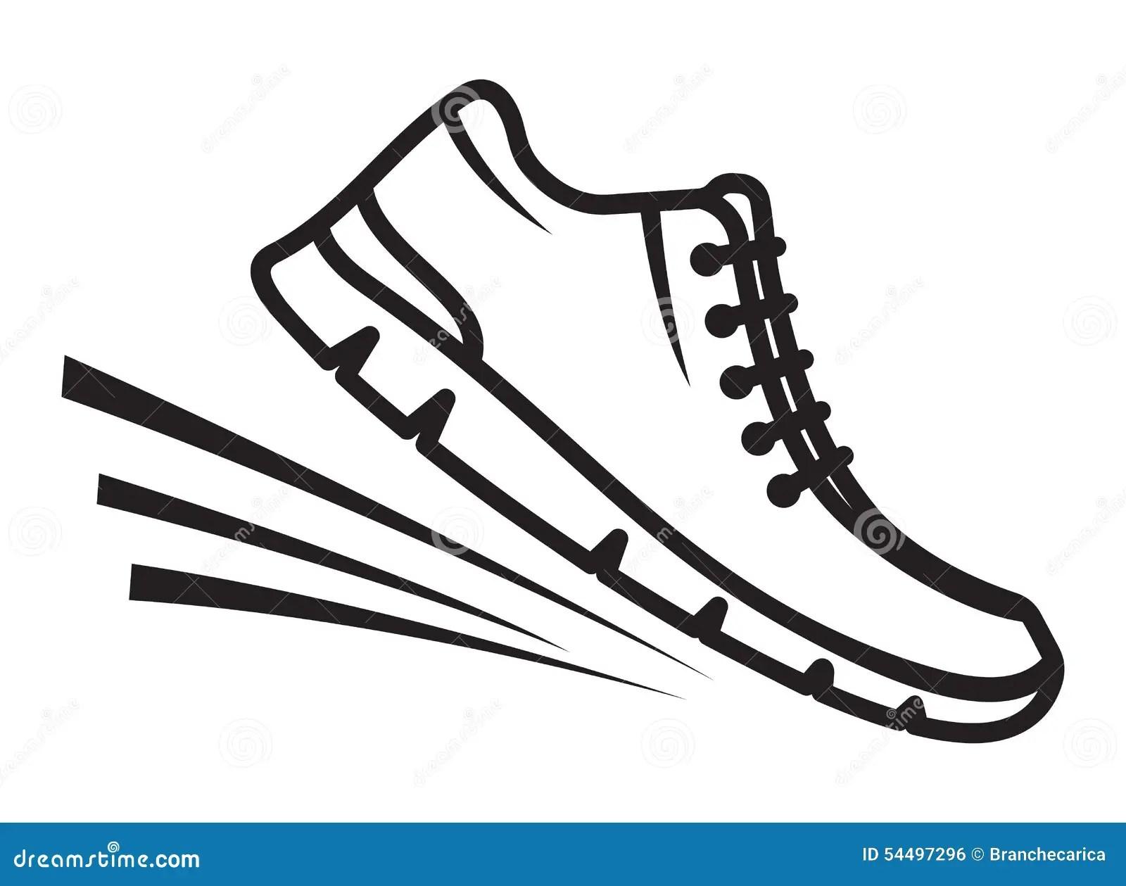 Running Shoes Icon Stock Illustration