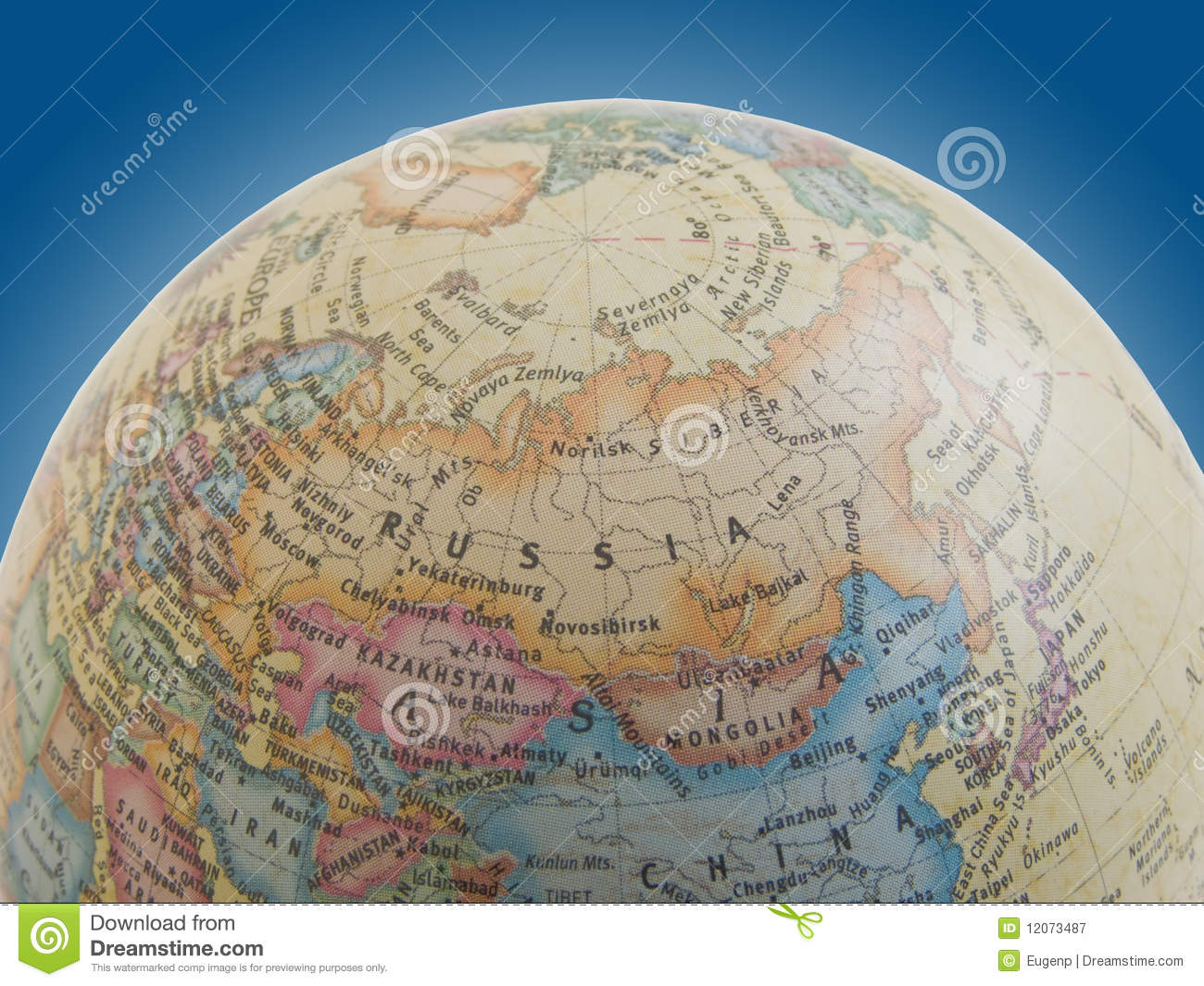 Russia On The Globe Stock Image Image Of Planet Asia