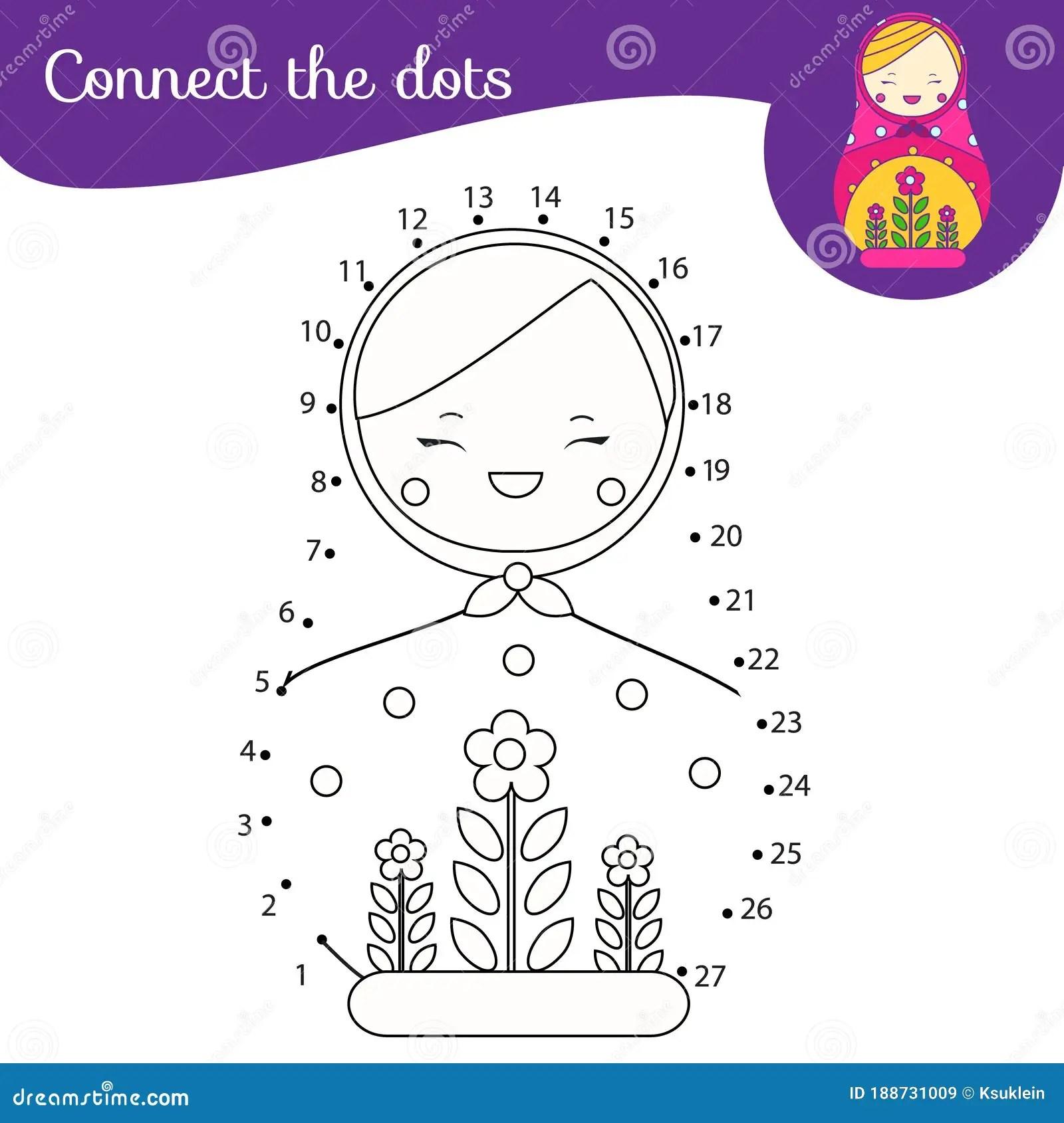 Russian Matreshka Doll Connect The Dots Dot To Dot By