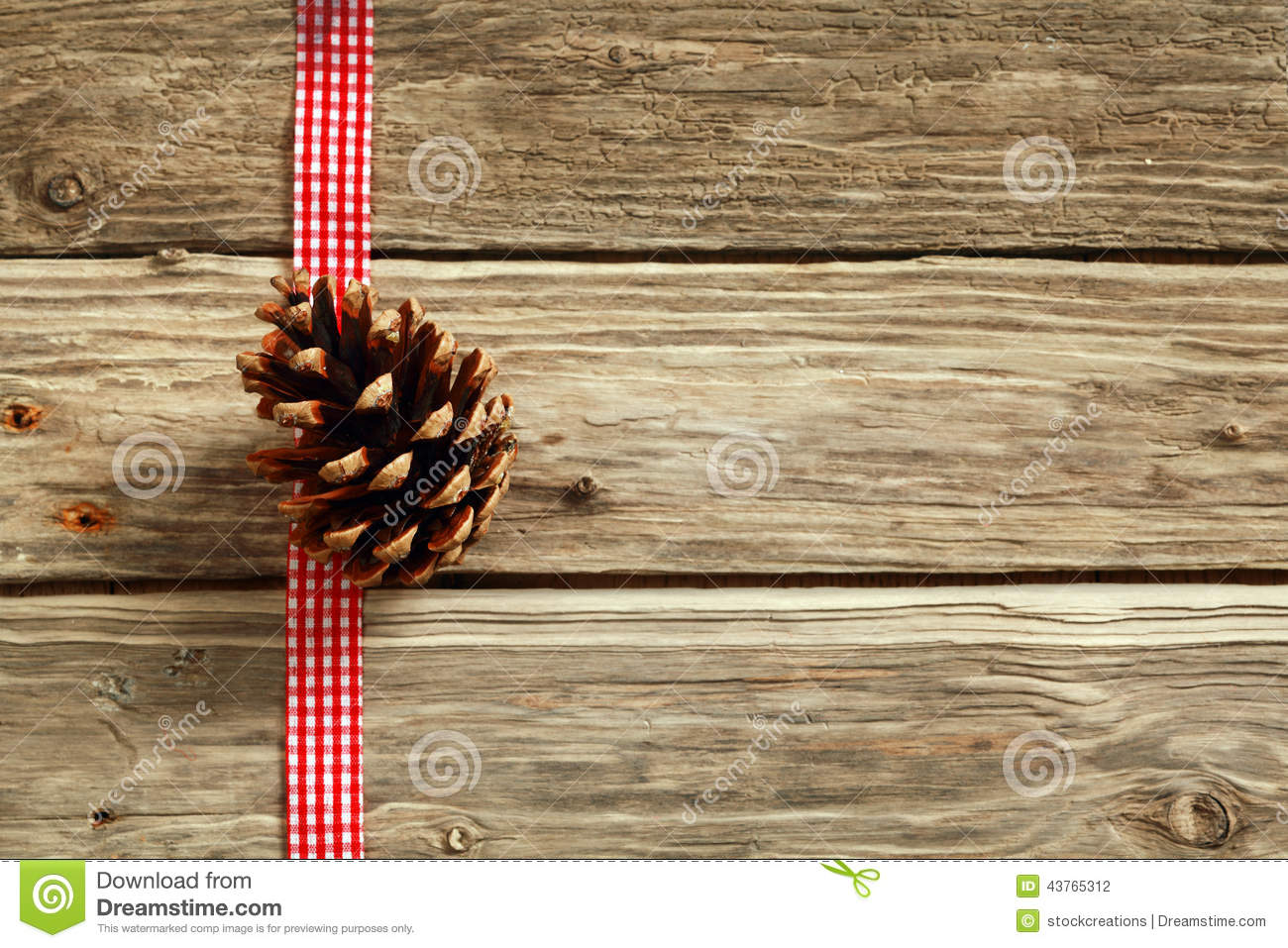 Rustic Christmas Background Stock Photo Image 43765312