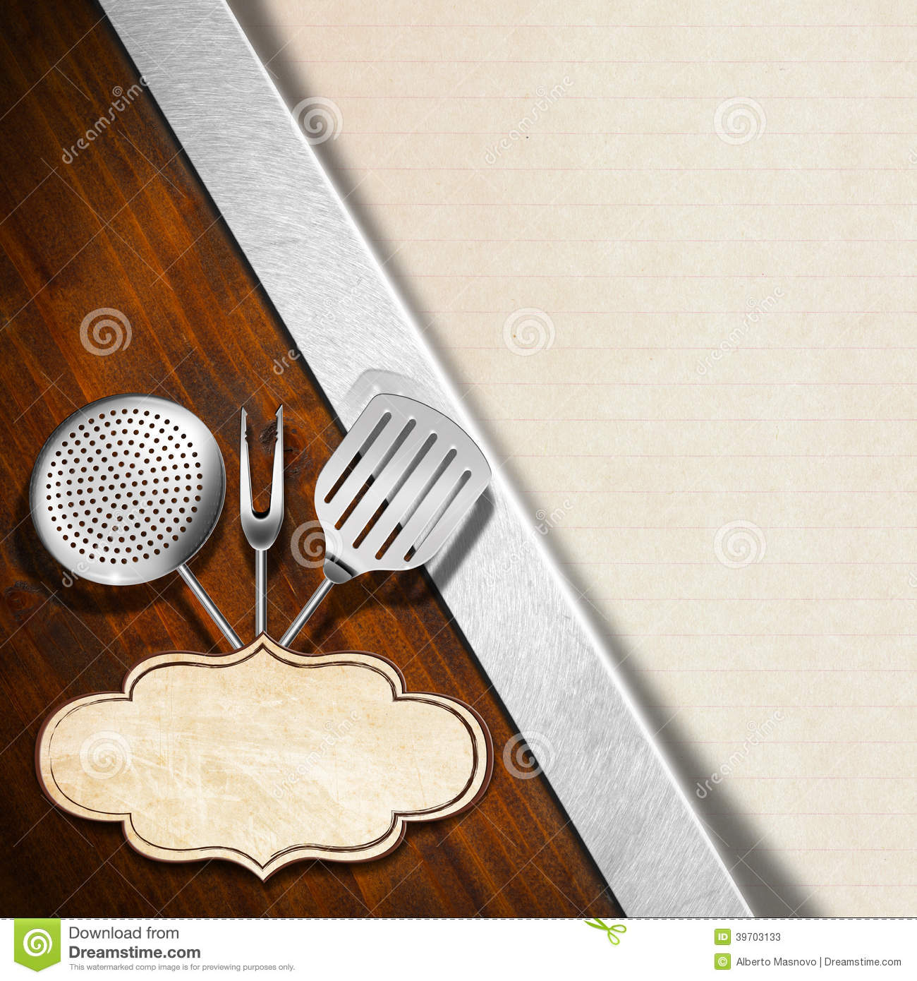 Rustic Menu Template Stock Illustration Illustration Of