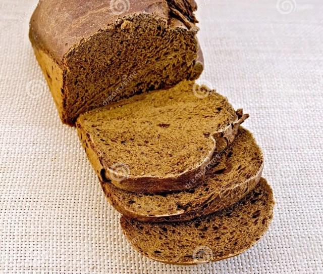 Rye Homemade Bread On Rough Bagging