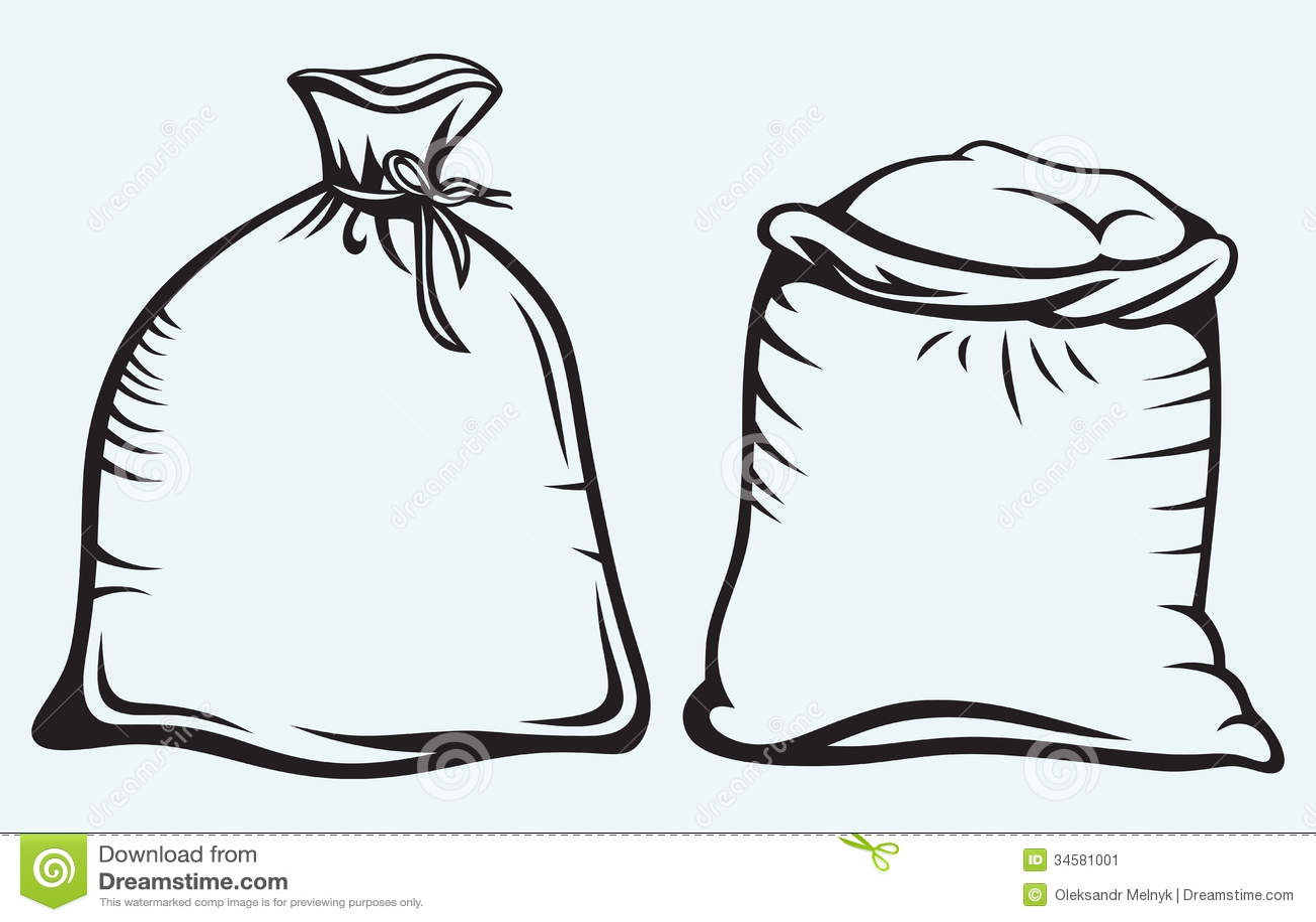 Sacks Of Grain Stock Vector Illustration Of Concept