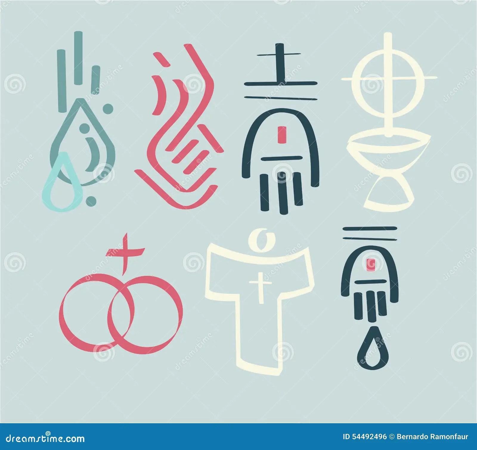 Sacraments Stock Vector