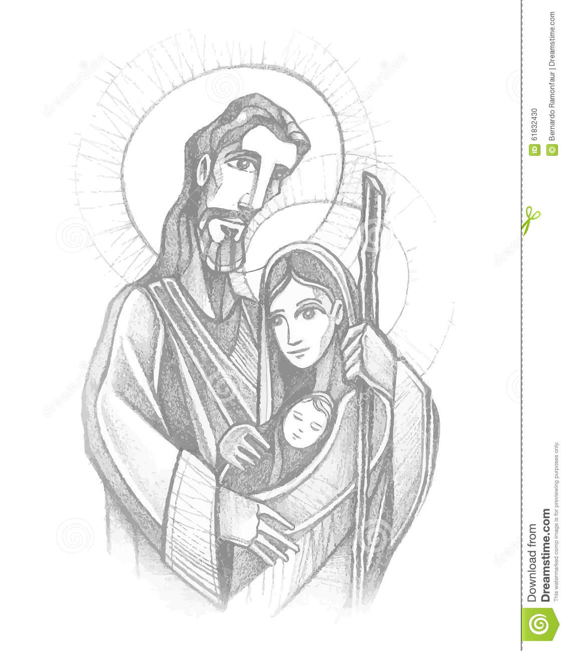 Sacred Family Stock Vector Illustration Of Saint Family