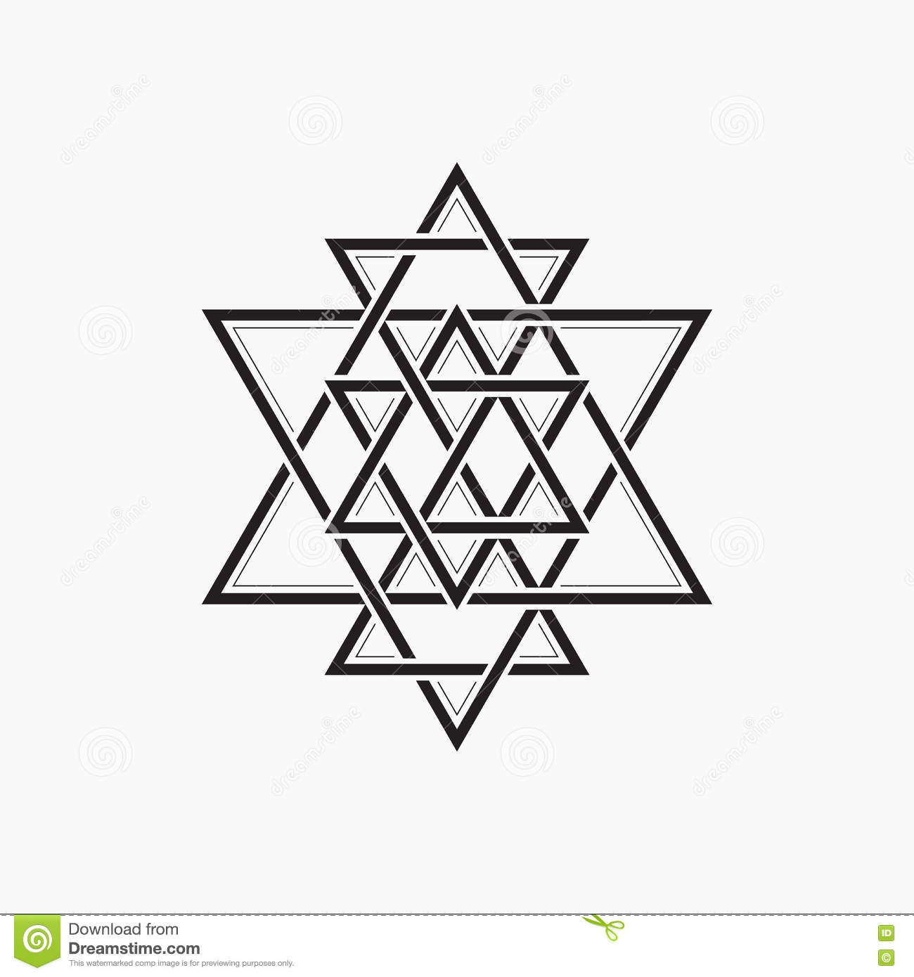Sacred Geometry Abstract Symbol Of The Constitution Of