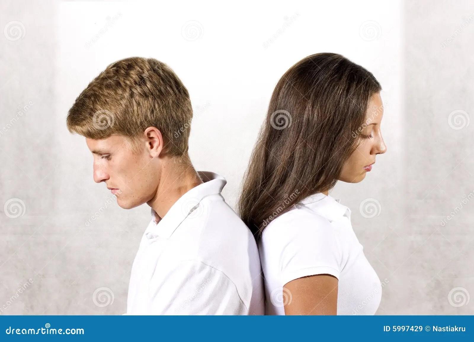 Sad Couple Stock Image Image Of Finished Adversity Anxiety 5997429