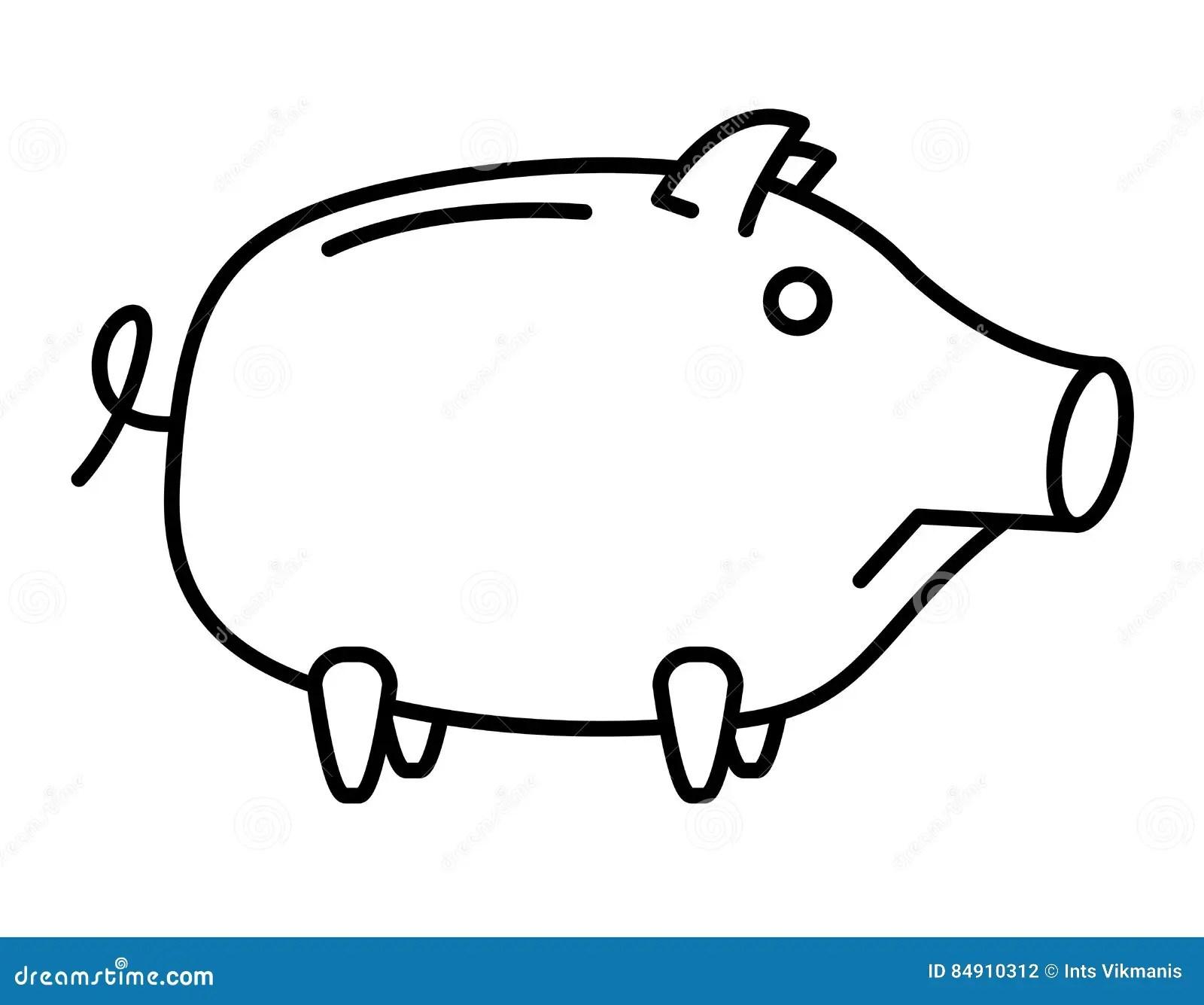Sad Piggy Bank Or Money Box Stock Vector
