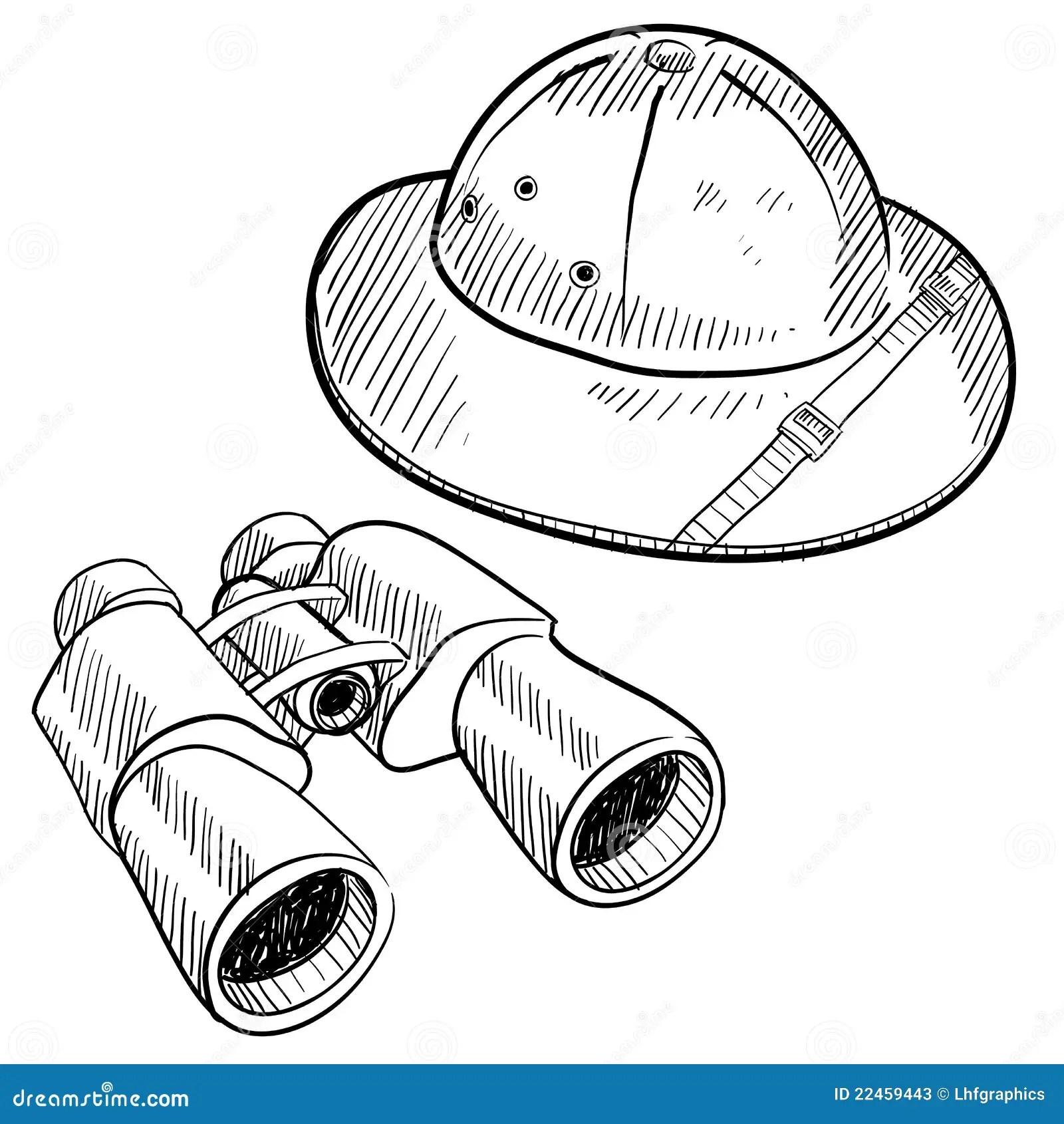 Safari Gear Drawing Stock Vector Image Of Jungle Drawing