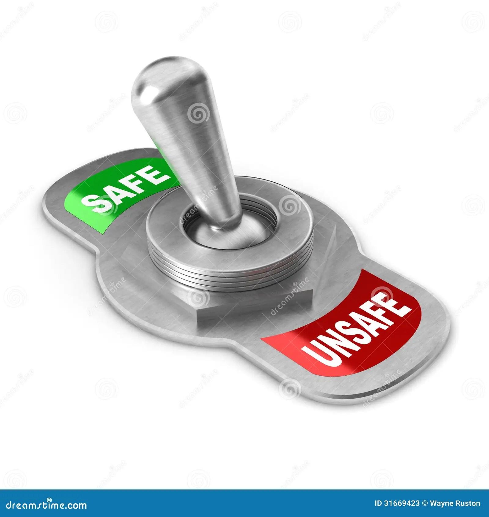 Safe Vs Unsafe Switch Stock Illustration Illustration Of