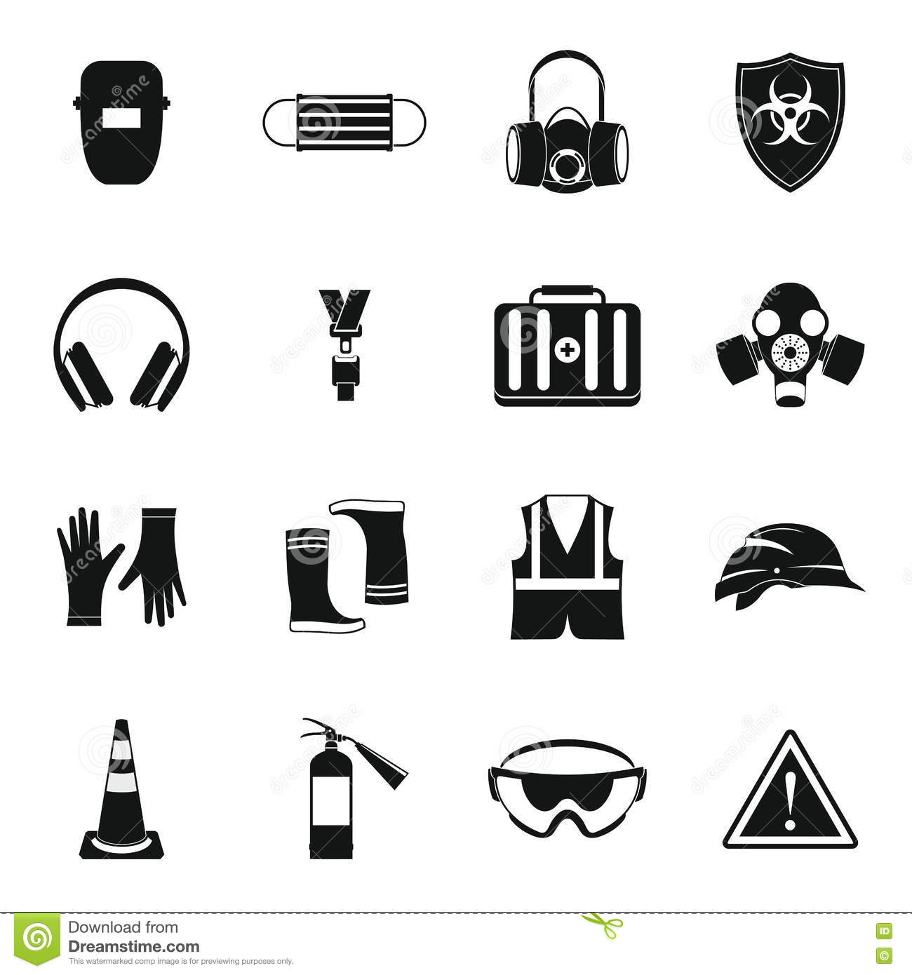 Safety Glasses Icon Simple Style Cartoon Vector