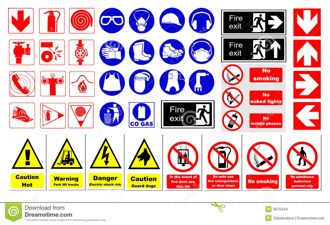 Safety Signs Stock Vector Illustration Of Safety Yellow