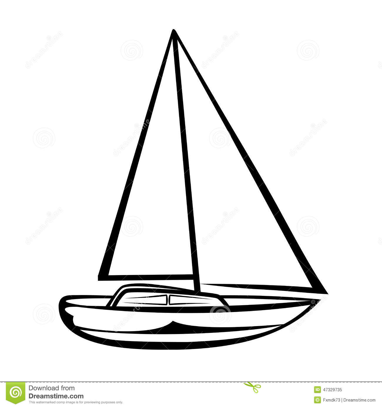 Sailing Boat Stock Vector Illustration Of Boat River