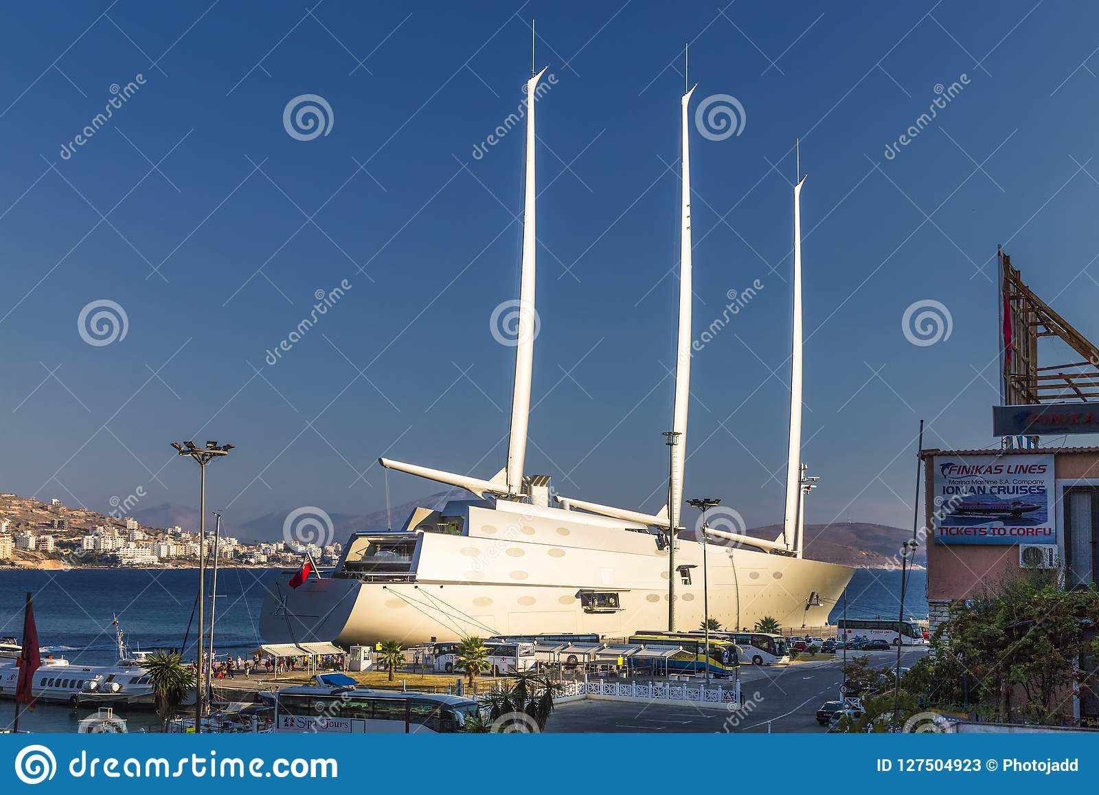 Sailing Yacht A Sya One Of The Biggdµst Sailing Yachts In The World Editorial Stock Photo Image Of Navigation Holiday 127504923