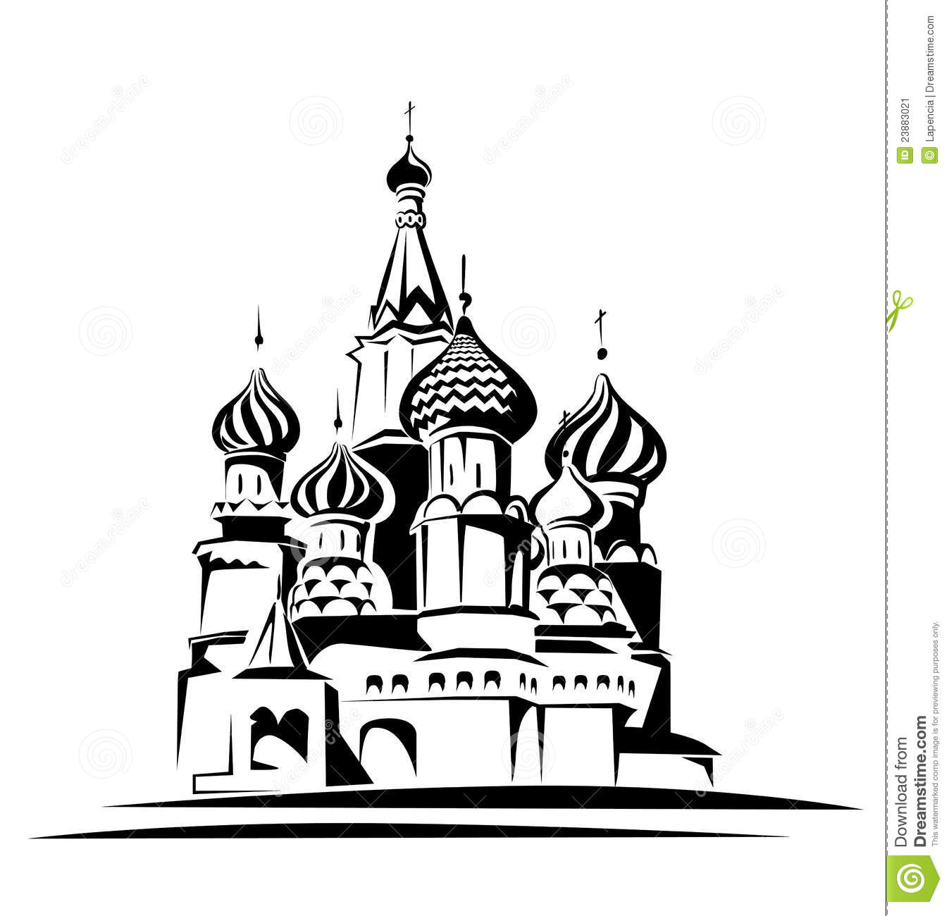 Saint Basil Cathedral Stock Vector Illustration Of Center