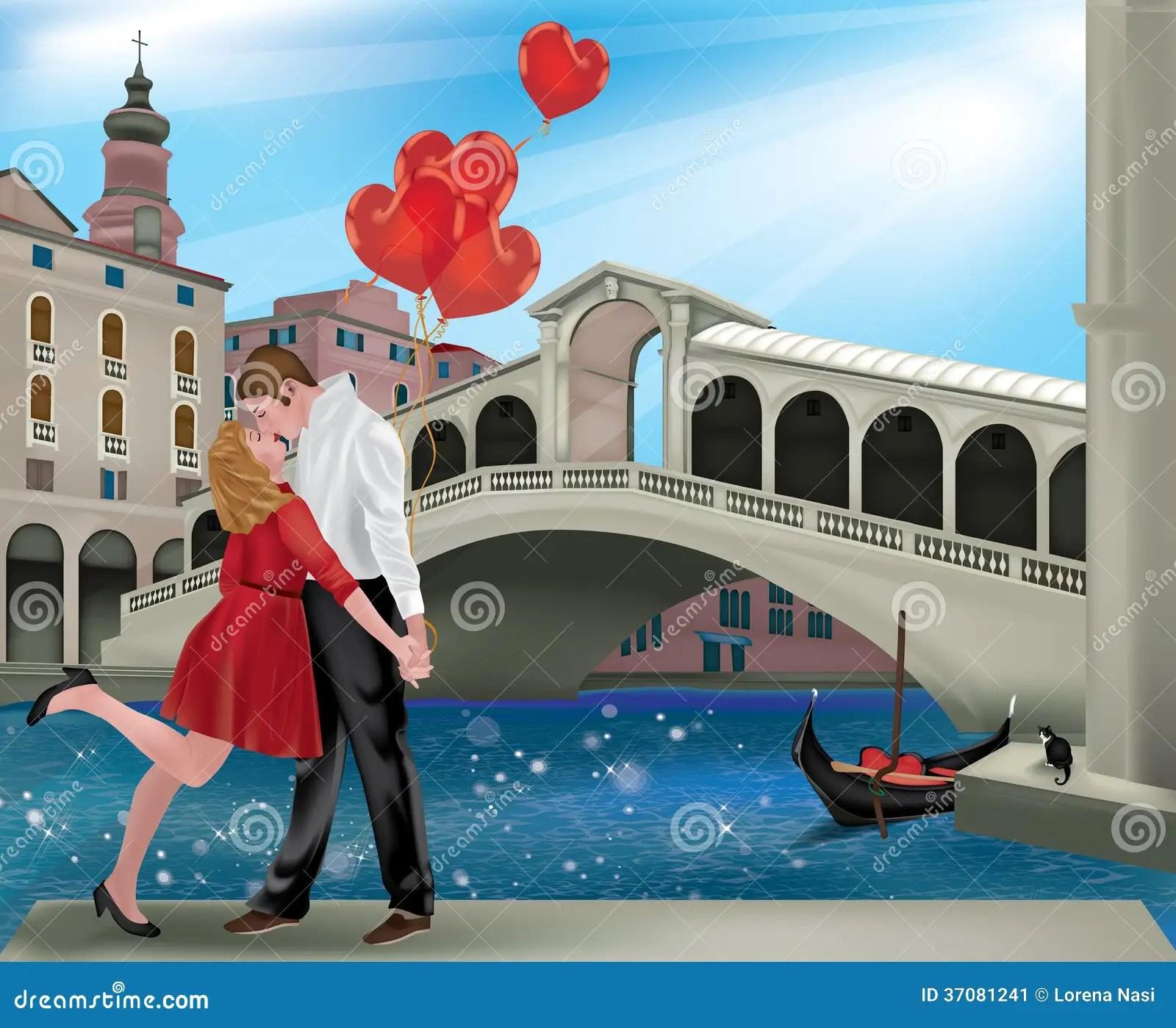Saint Valentine In Venice Stock Image Image Of Blue