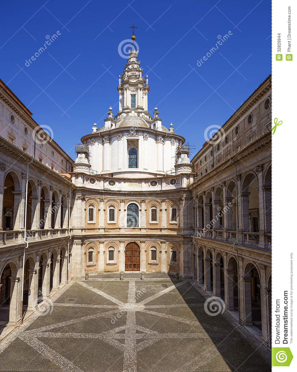 Saint Yves At La Sapienza Church Rome Italy Stock