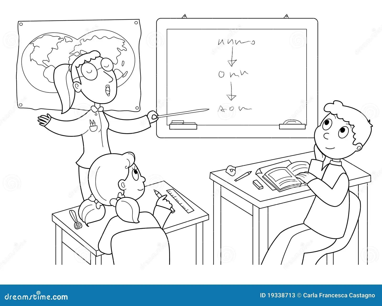 Sala De Aula Ilustracao Do Vetor Ilustracao De Cartoon