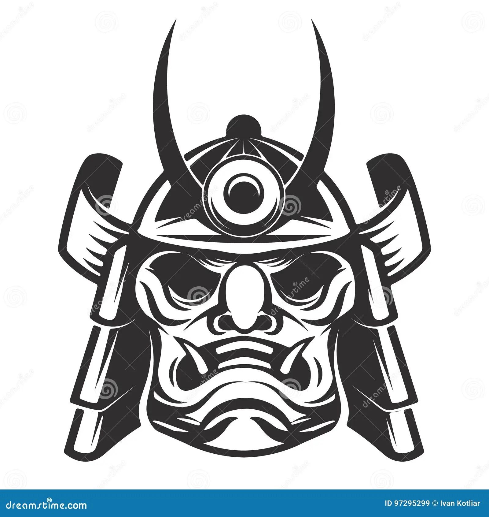 Japanese Samurai Warrior Helmet Isolated Stock