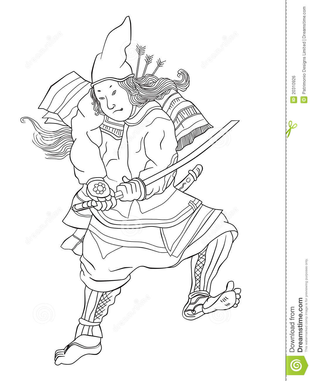 Samurai Warrior With Katana Sword Fighting Stance Royalty
