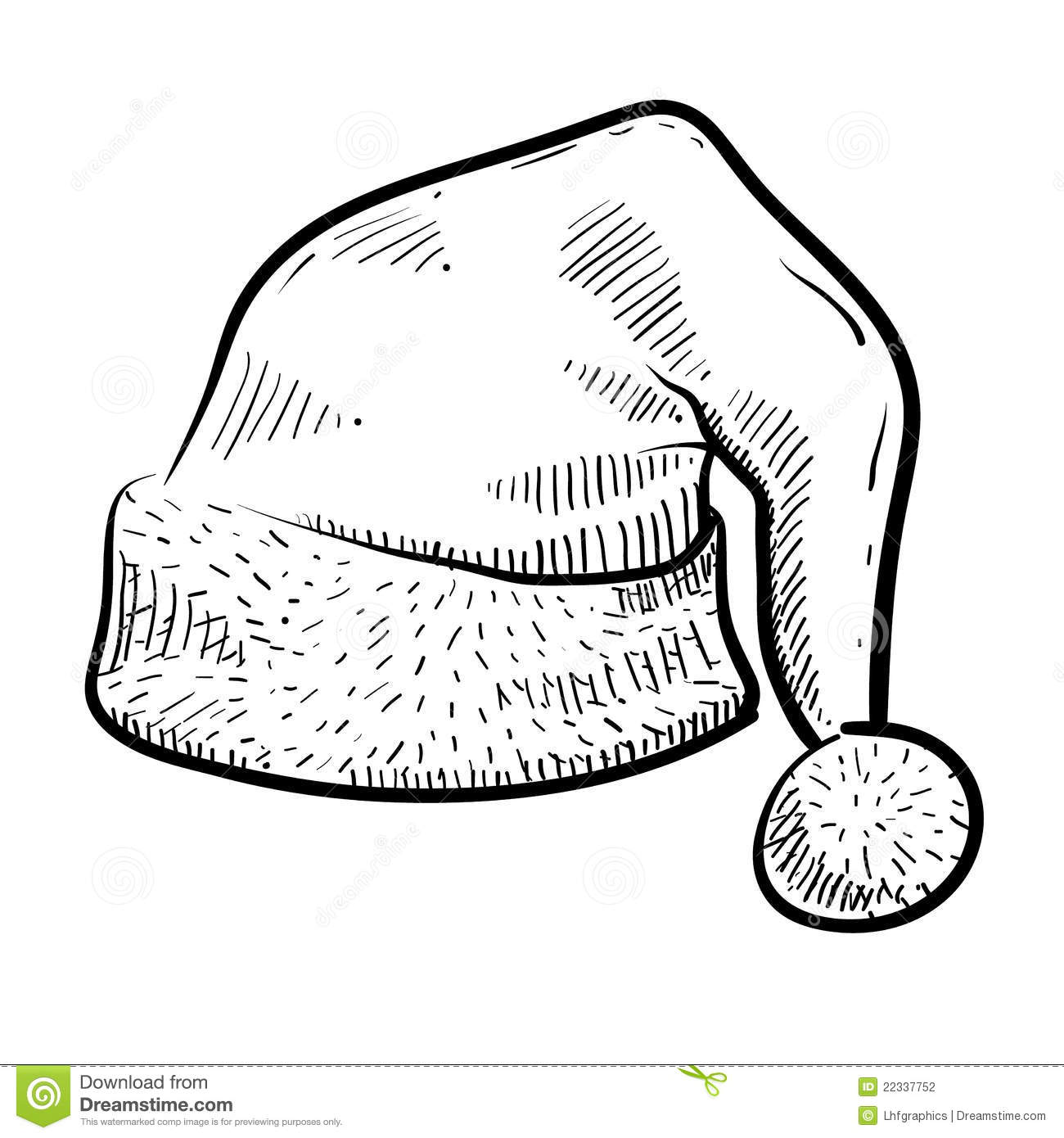 Santa Cap Sketch Stock Vector Image Of Isolated December