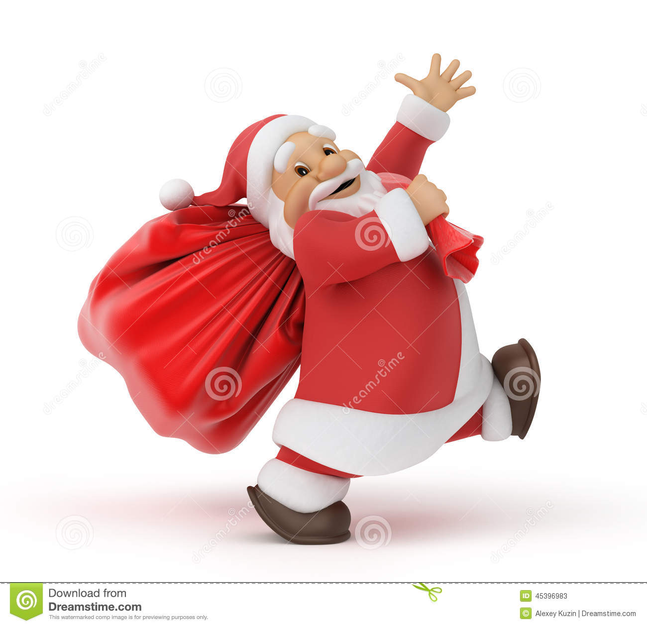 Santa Claus With A Bag Of Ts Stock Illustration