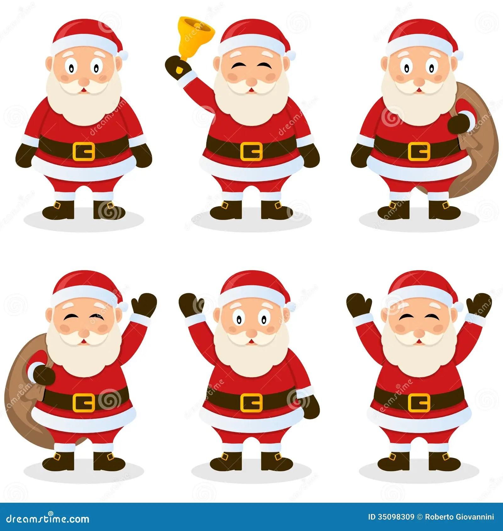Santa Claus Cartoon Christmas Set Vector Illustratie